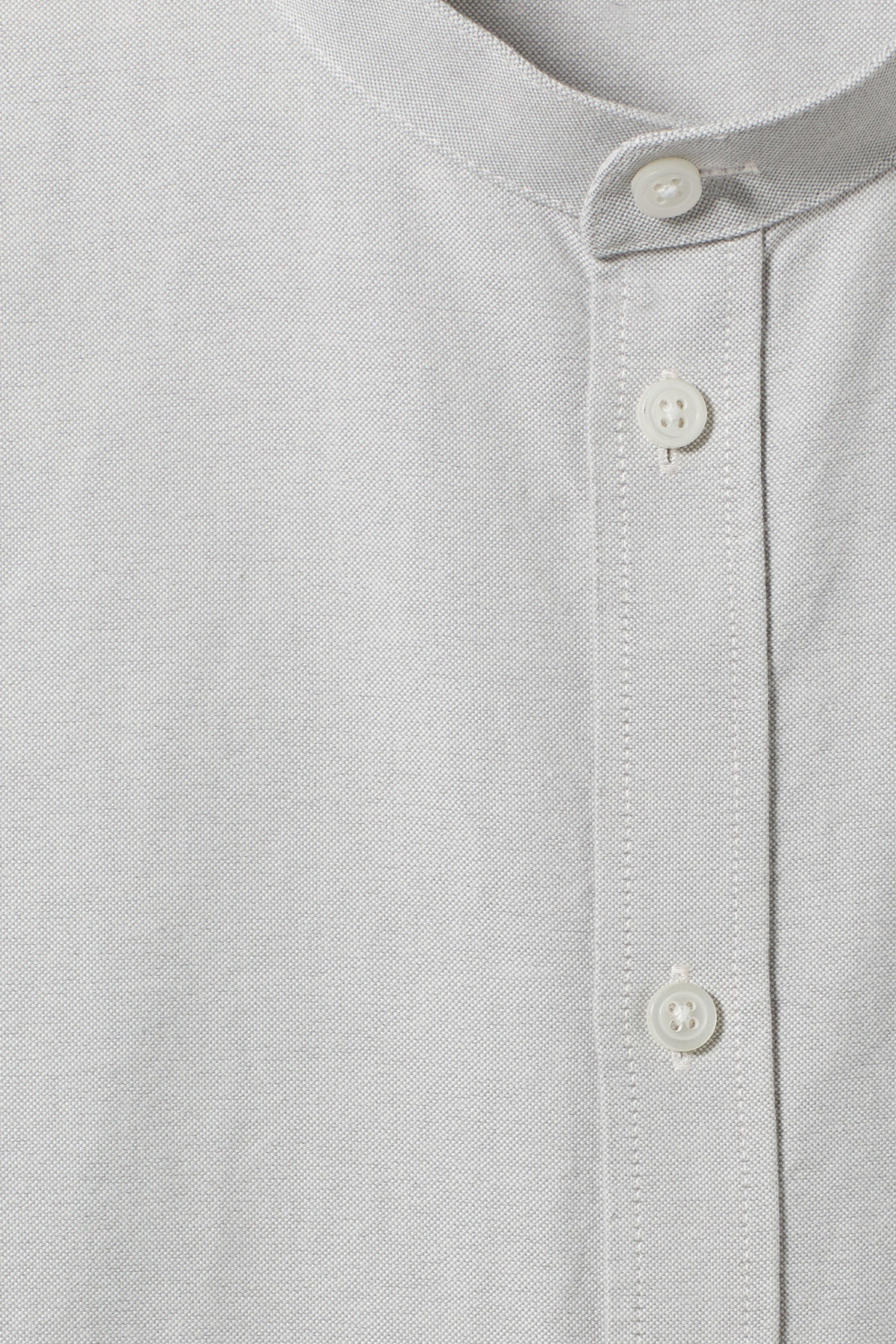 Detailed image of Weekday haring collarless shirt in grey