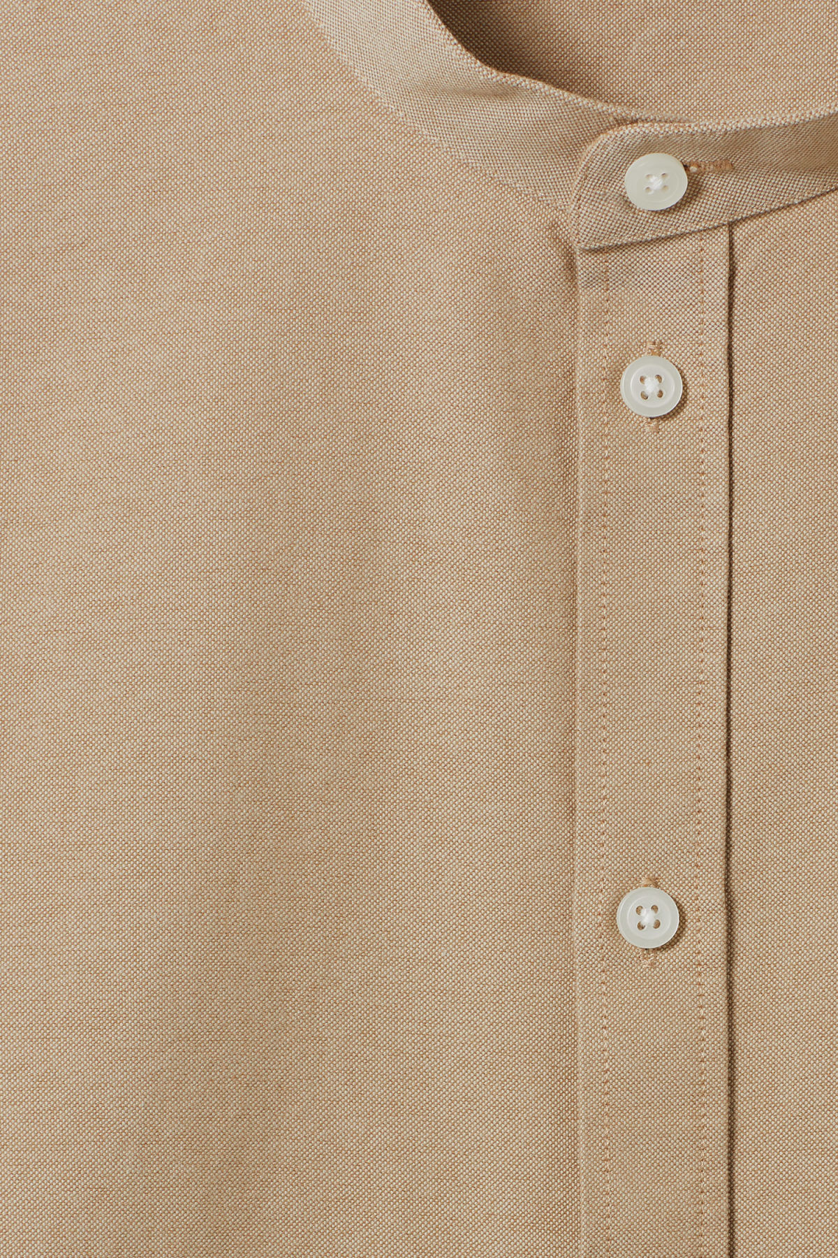 Detailed image of Weekday haring collarless shirt in beige