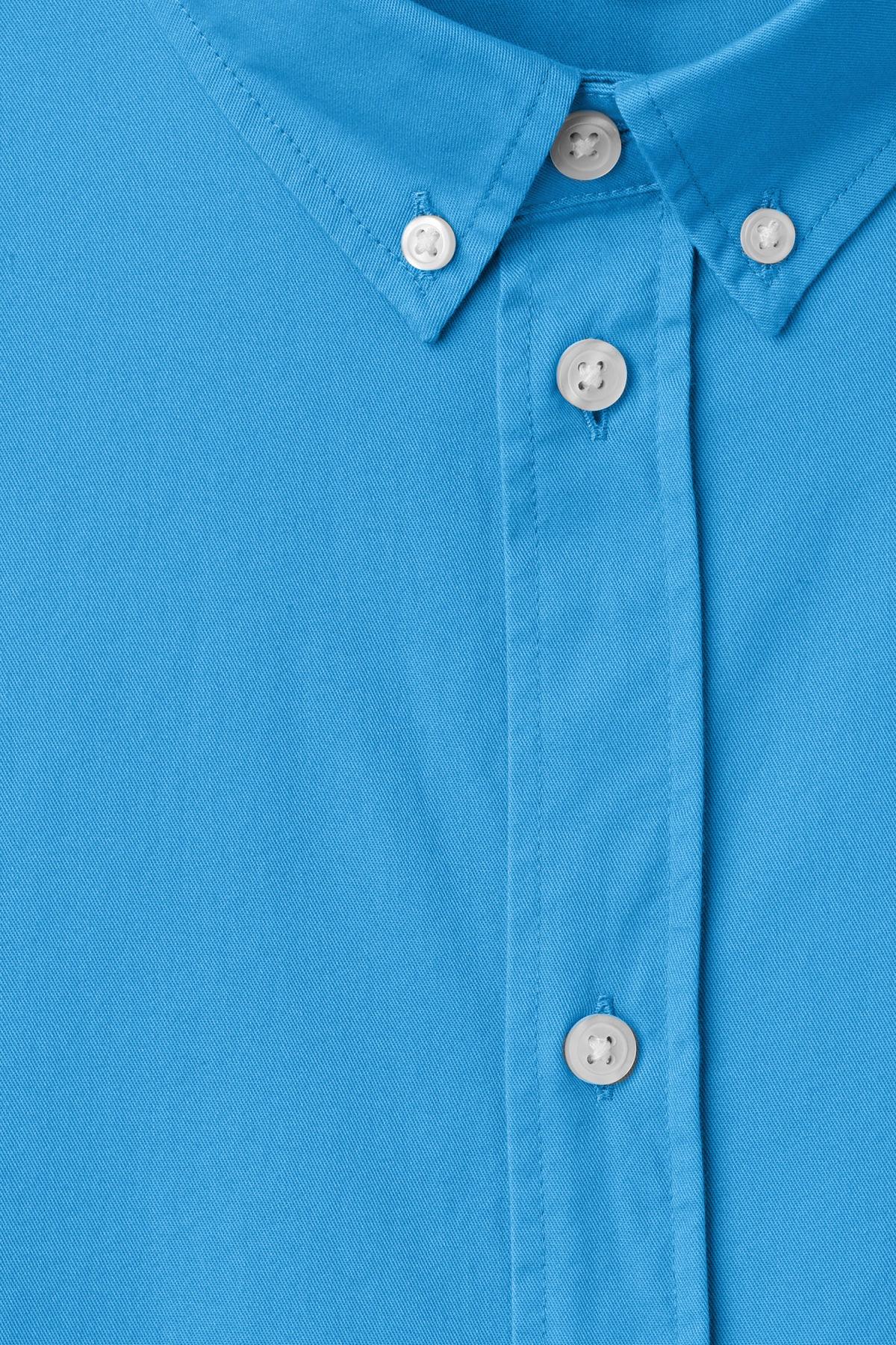 Detailed image of Weekday seattle twill shirt  in blue