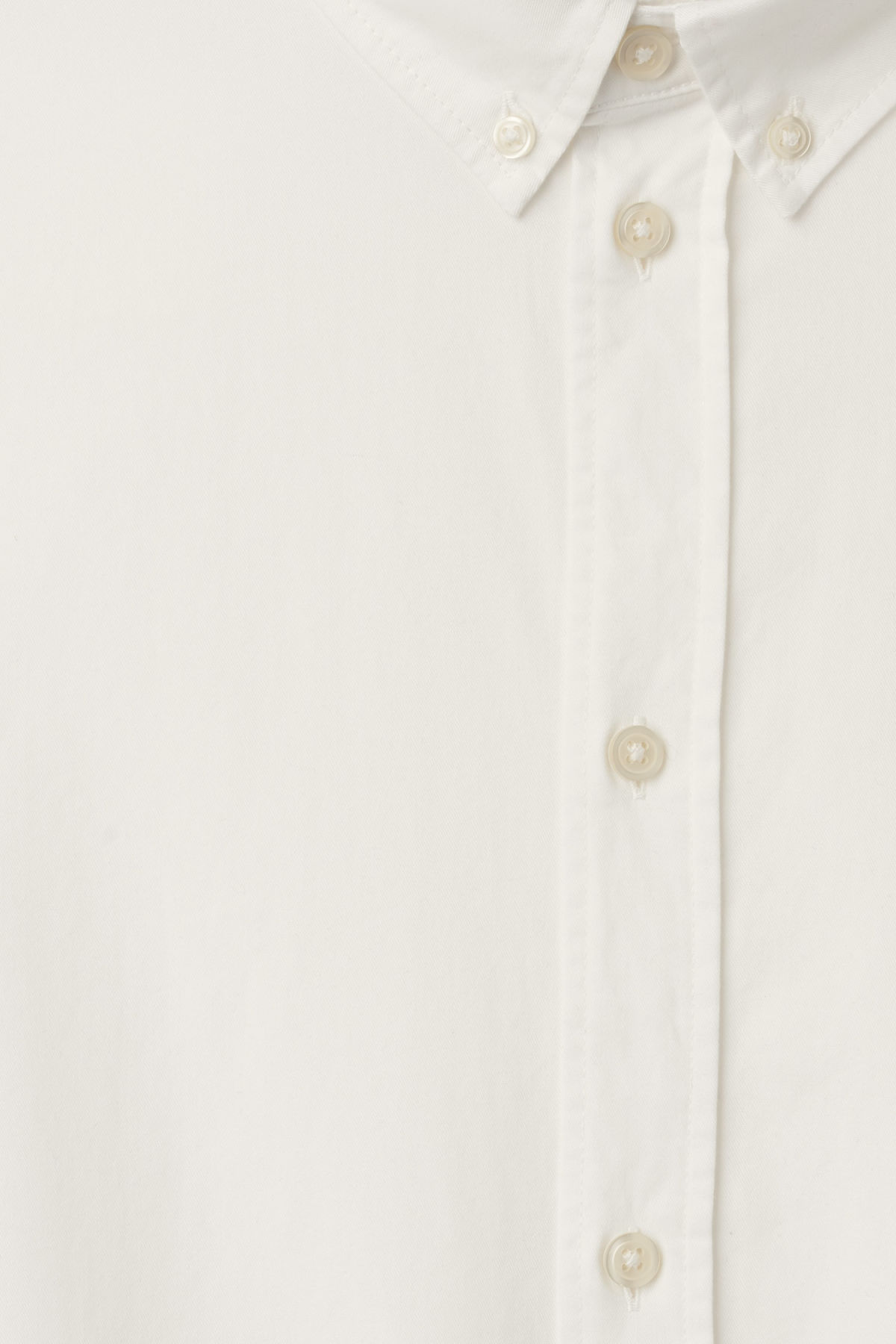 Detailed image of Weekday seattle twill shirt  in white