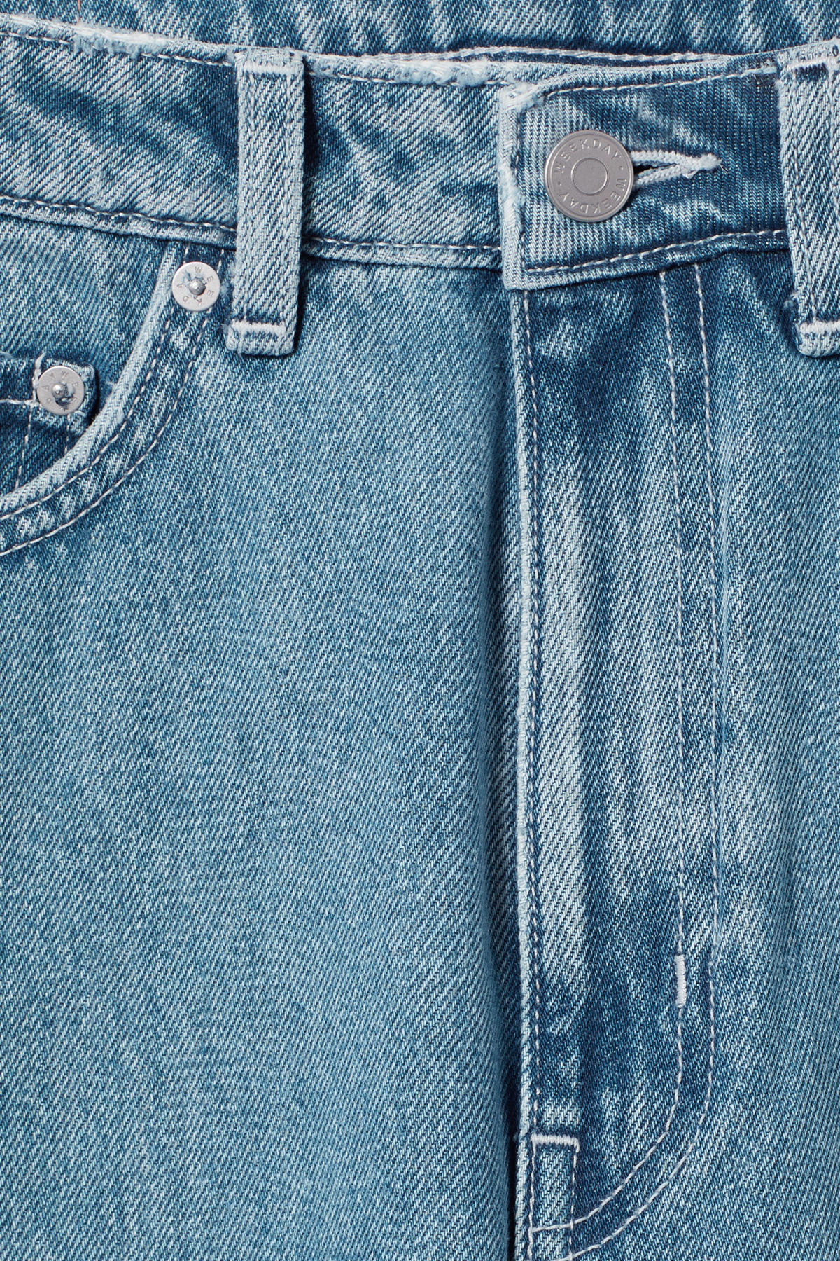Detailed image of Weekday row sky blue jeans in blue