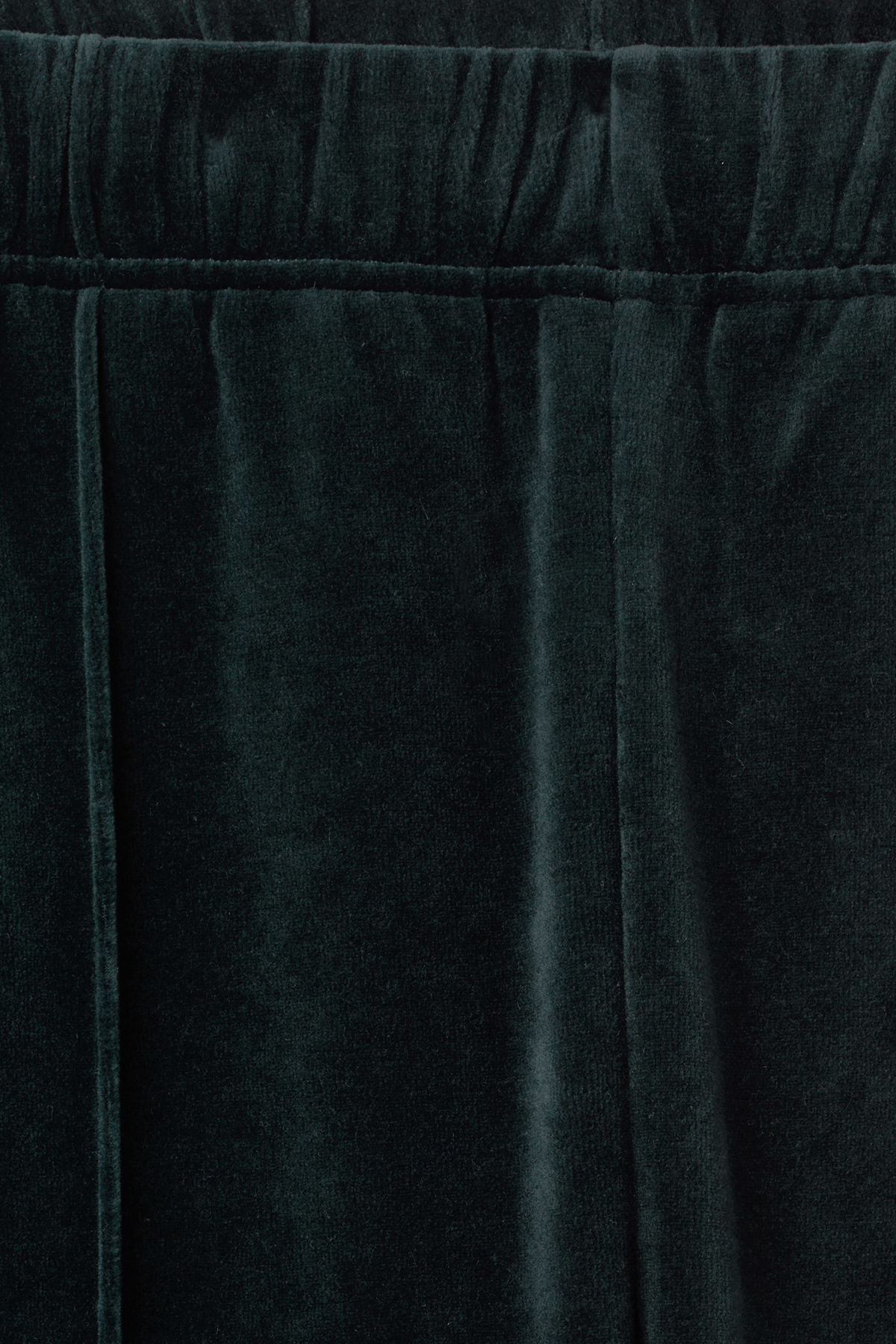 Detailed image of Weekday local velour sweatpants in blue