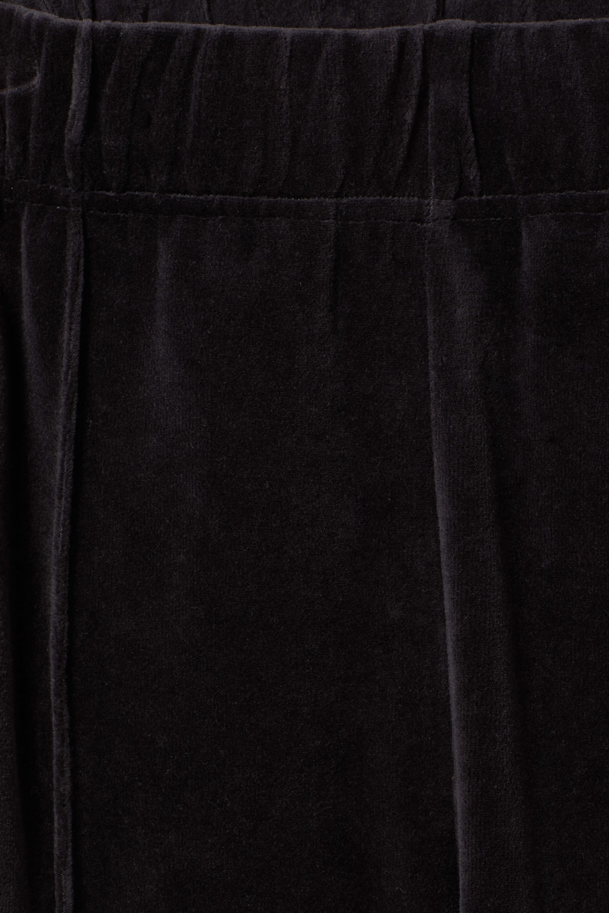 Detailed image of Weekday local velour sweatpants in black