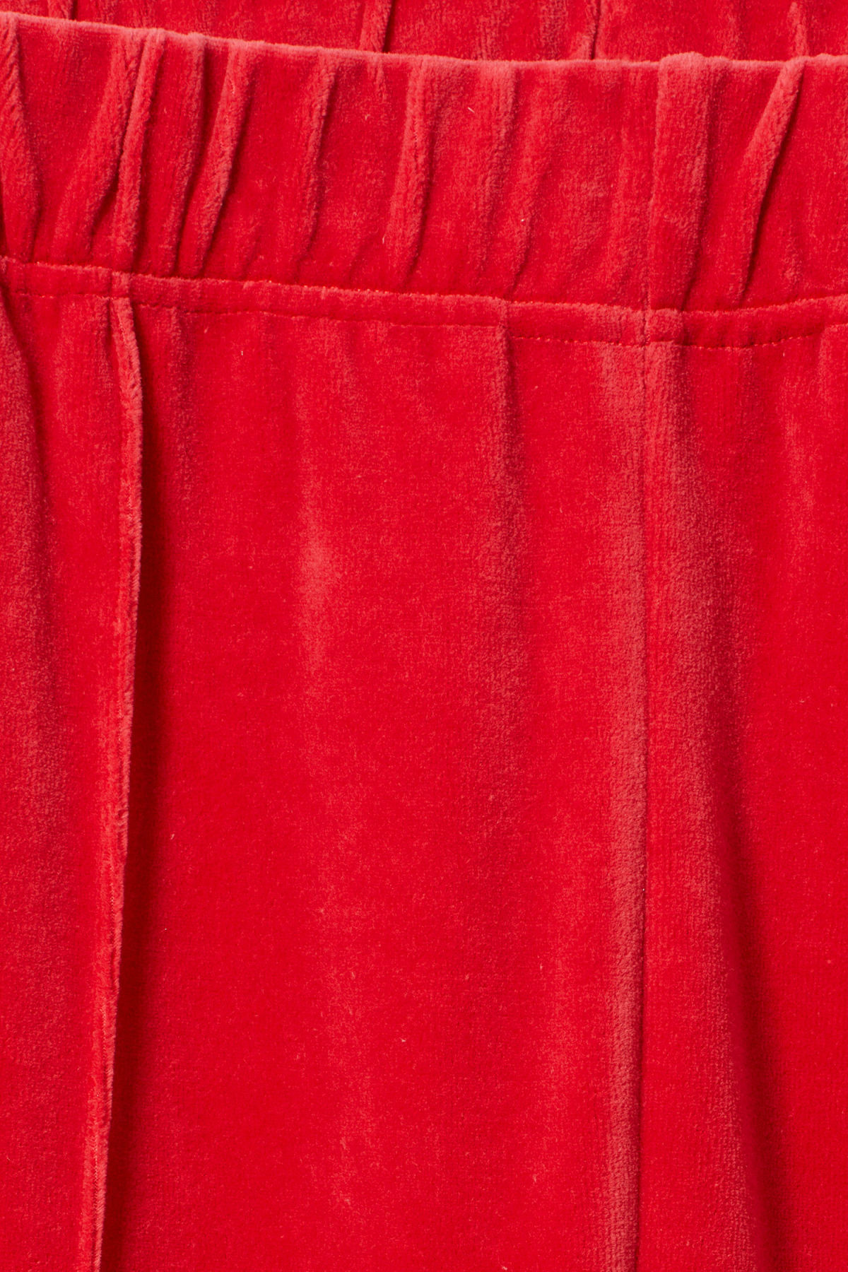 Detailed image of Weekday local velour sweatpants in red