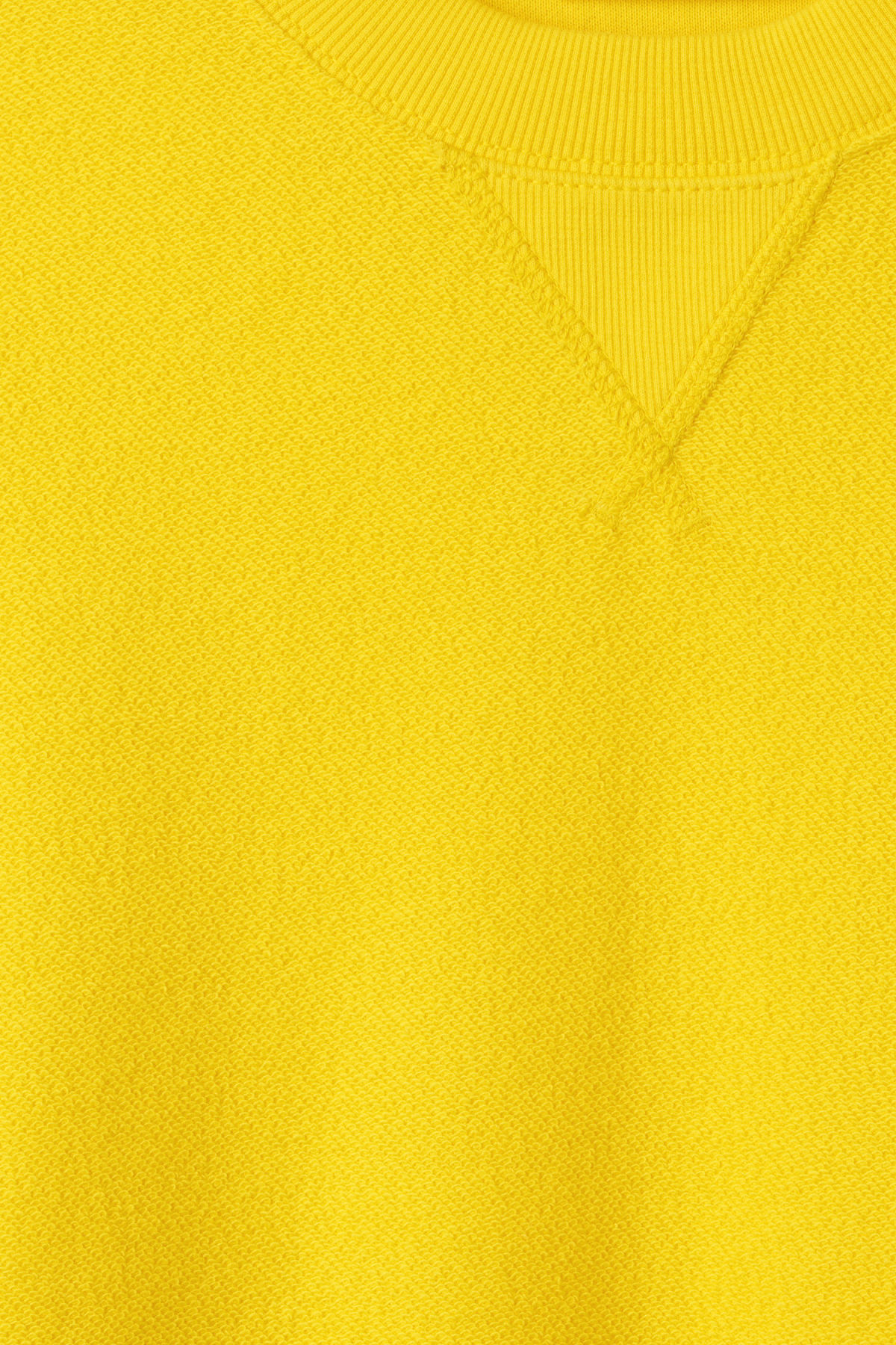 Detailed image of Weekday kyle sweatshirt in yellow