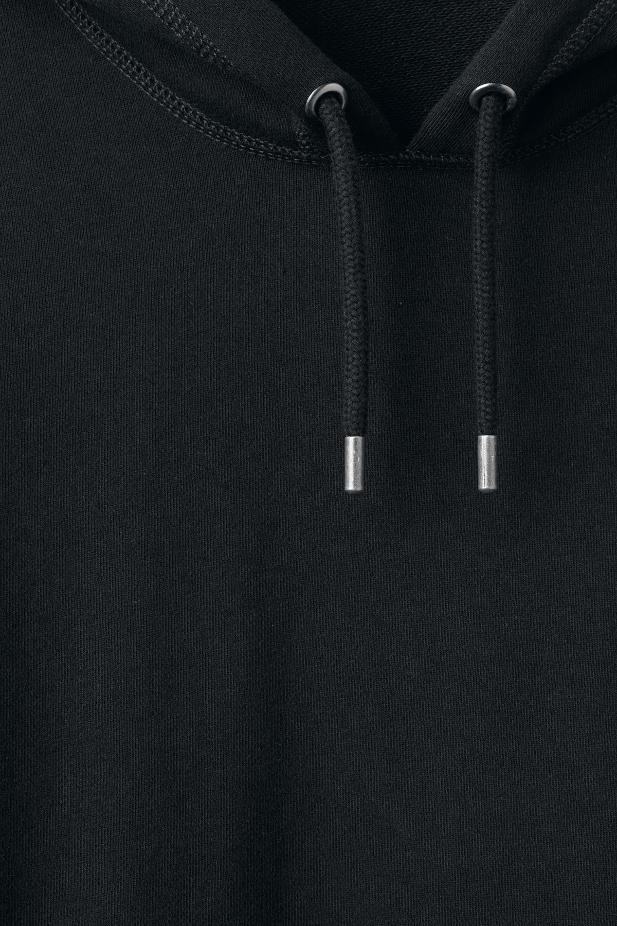 Detailed image of Weekday joel hoodie in black