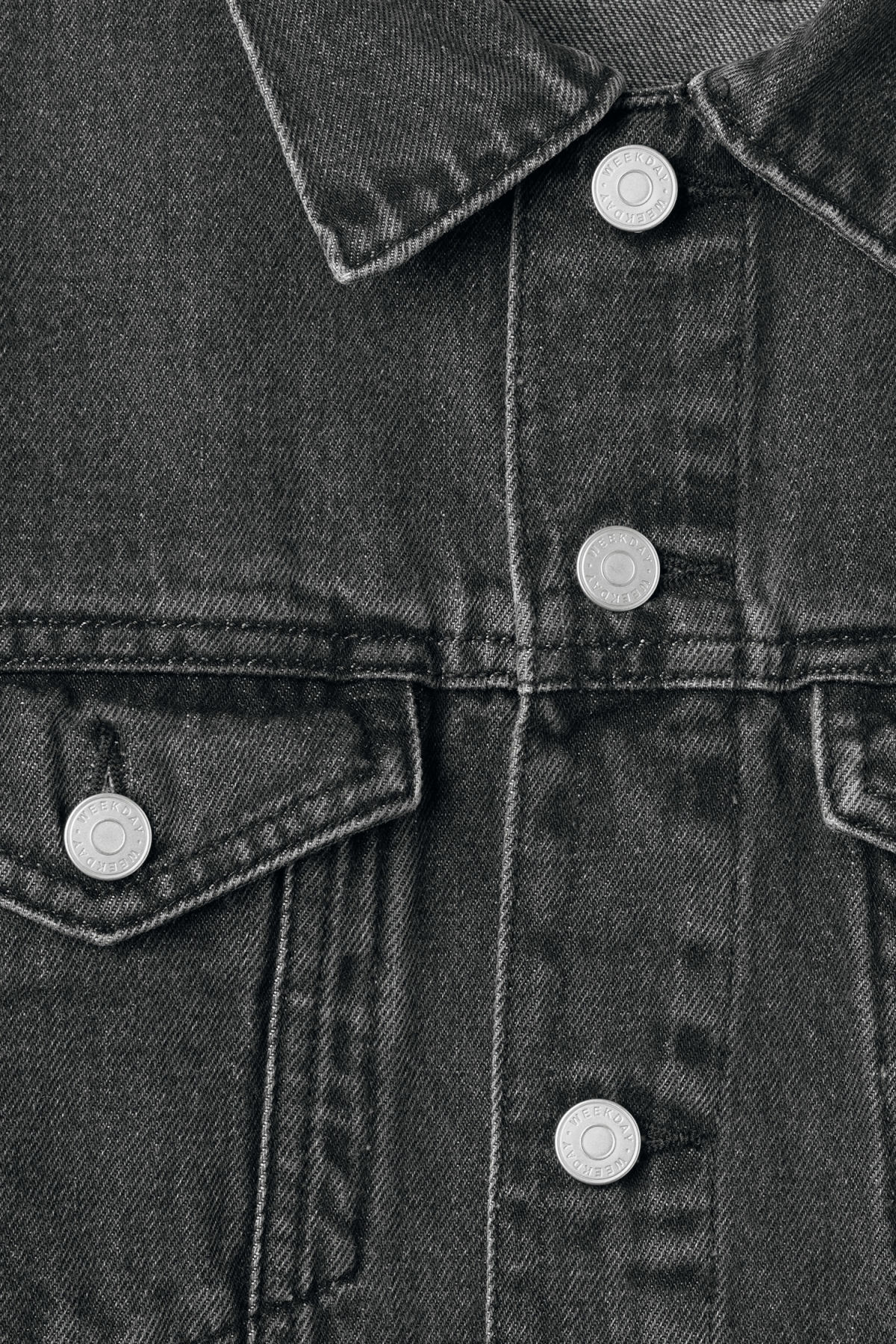 Detailed image of Weekday single free black jacket  in grey