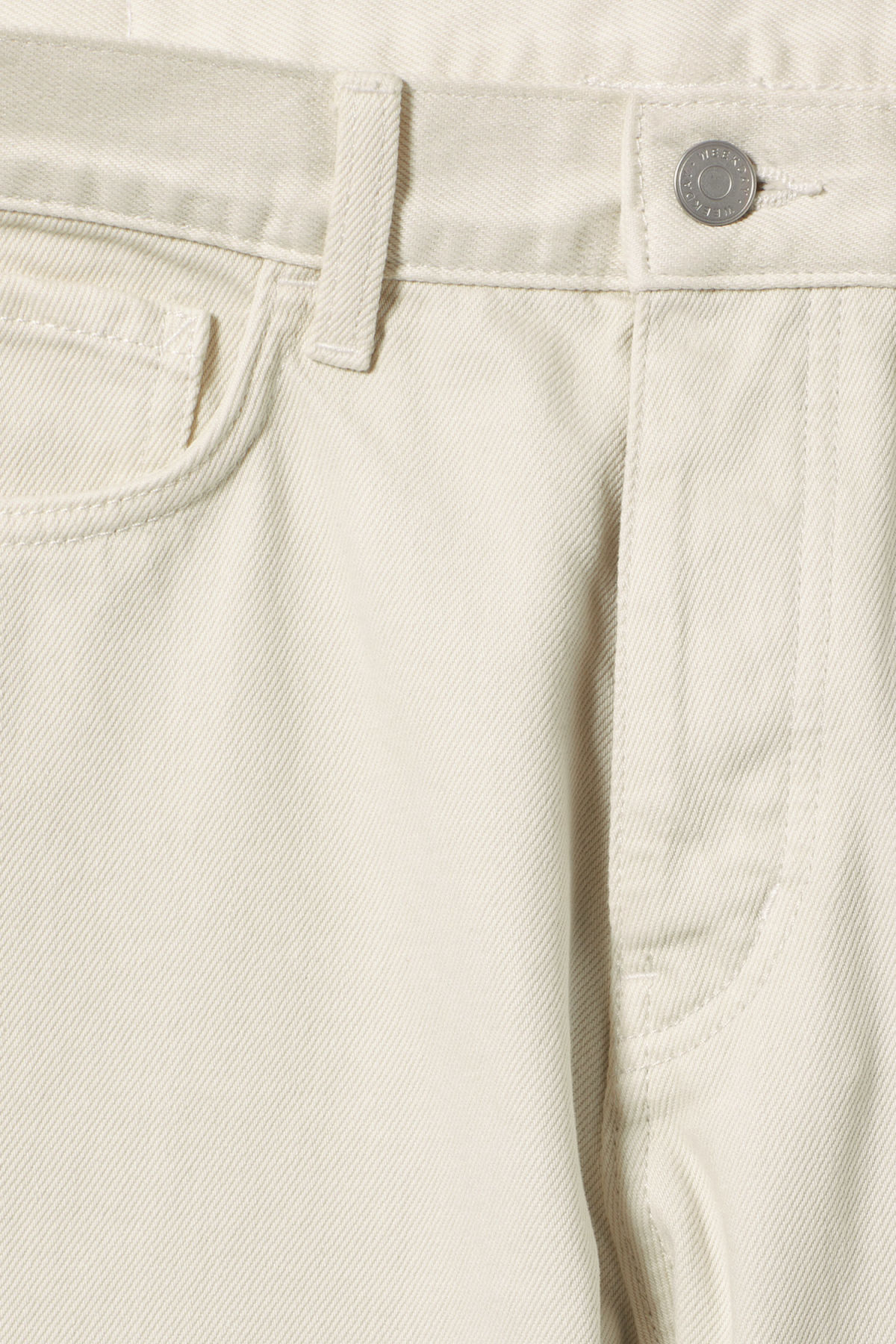 Detailed image of Weekday vacant two-toned jeans in white