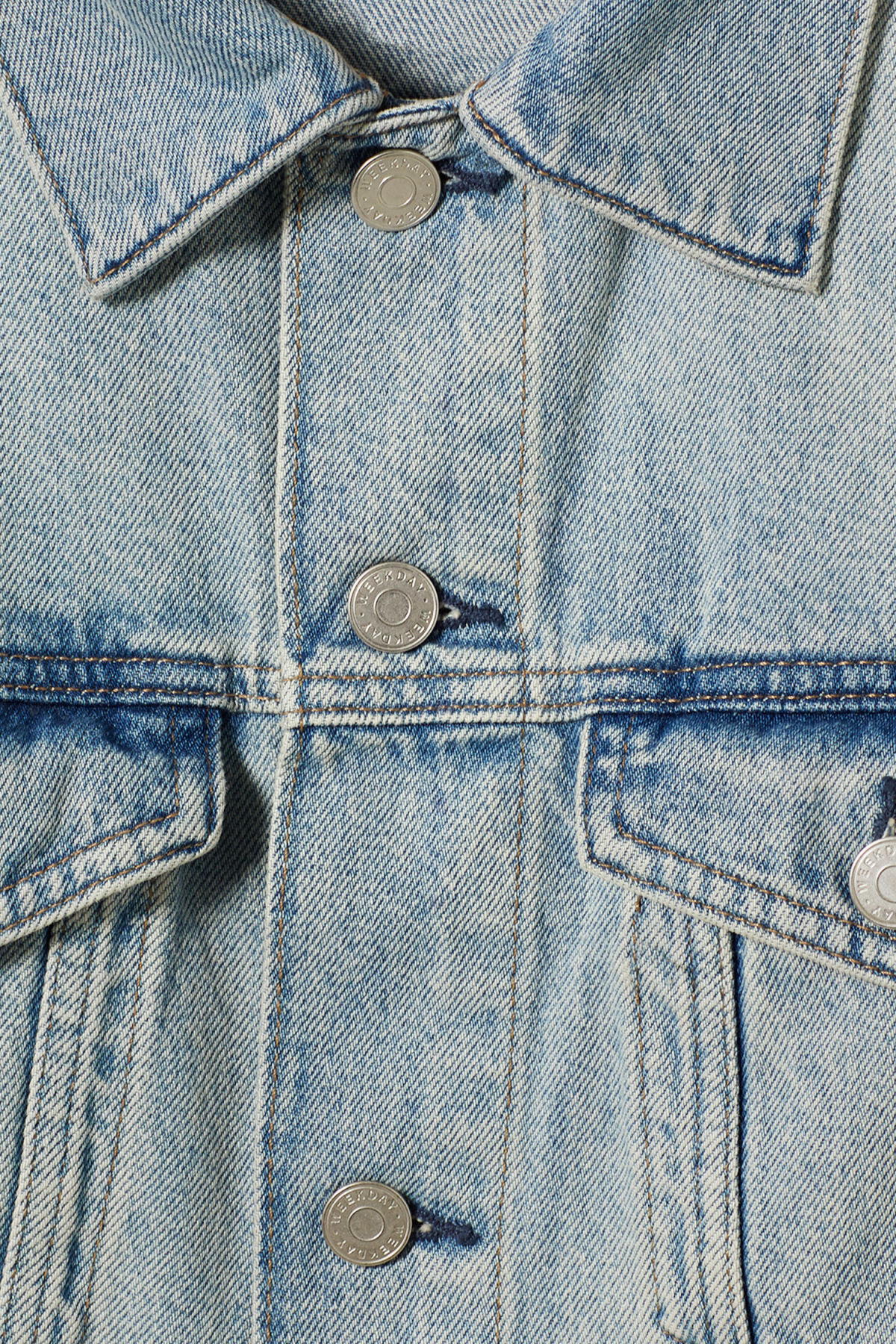 Detailed image of Weekday single spring blue jacket in blue