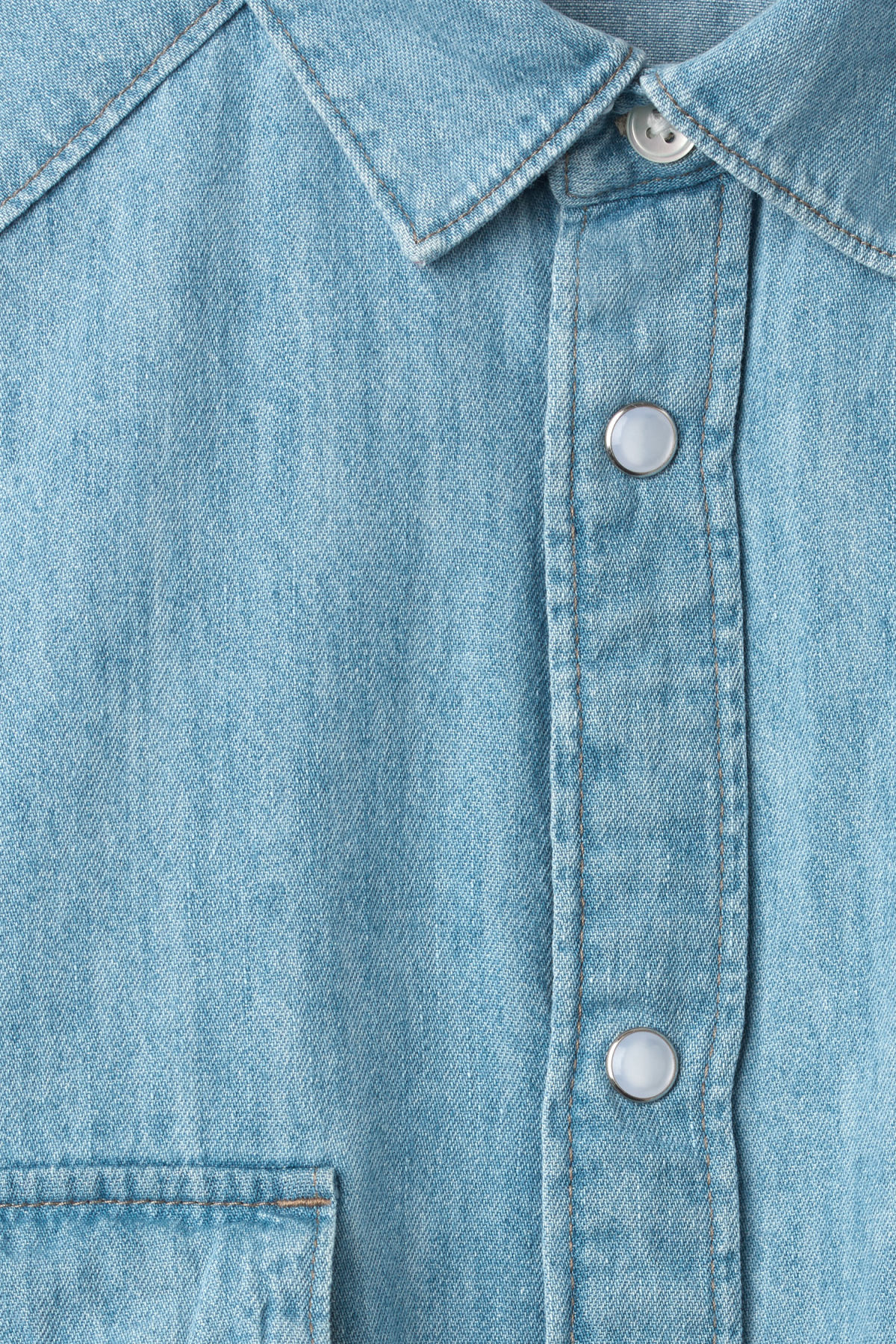 Detailed image of Weekday coy blue shirt  in blue