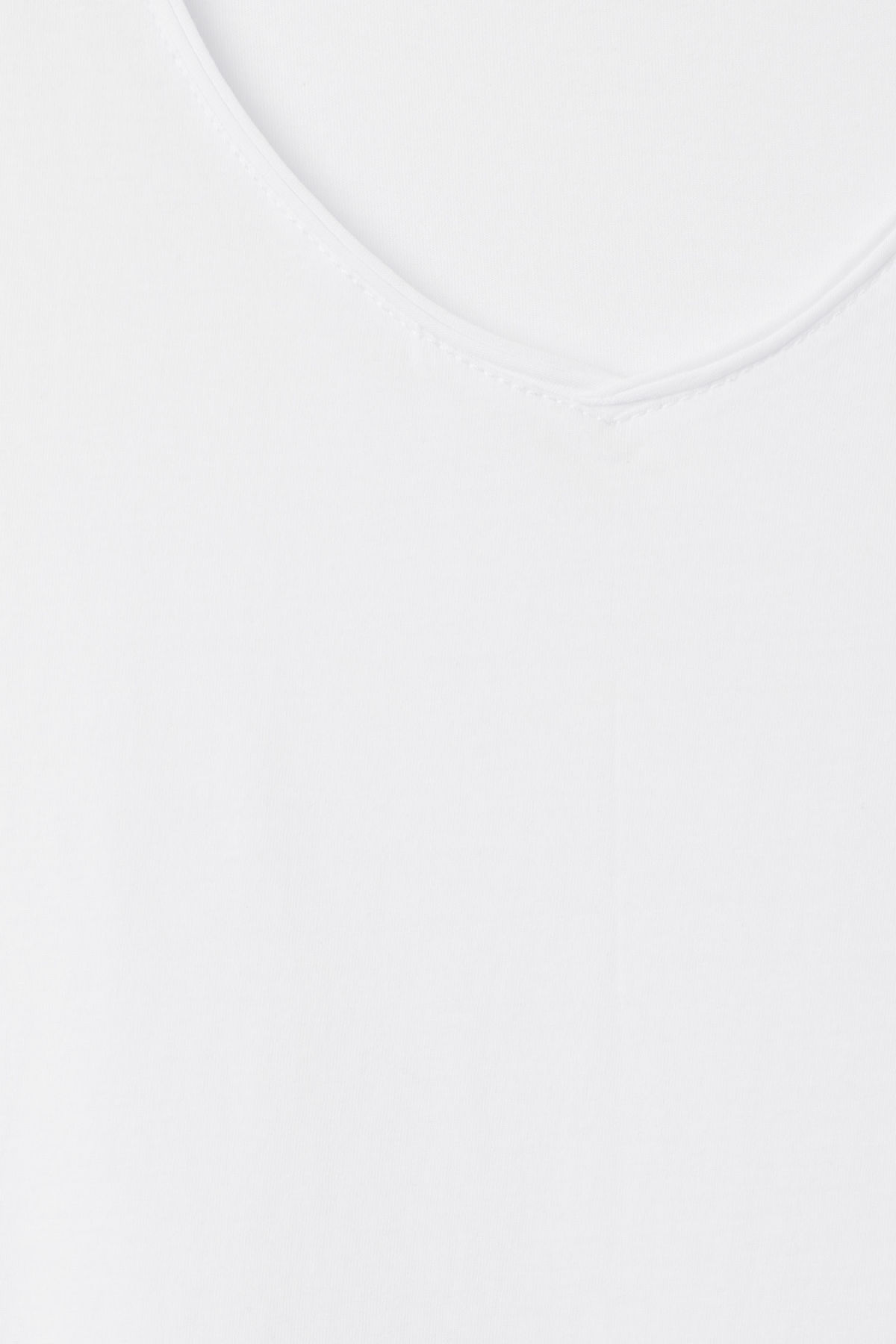 Detailed image of Weekday dark v-neck t-shirt in white