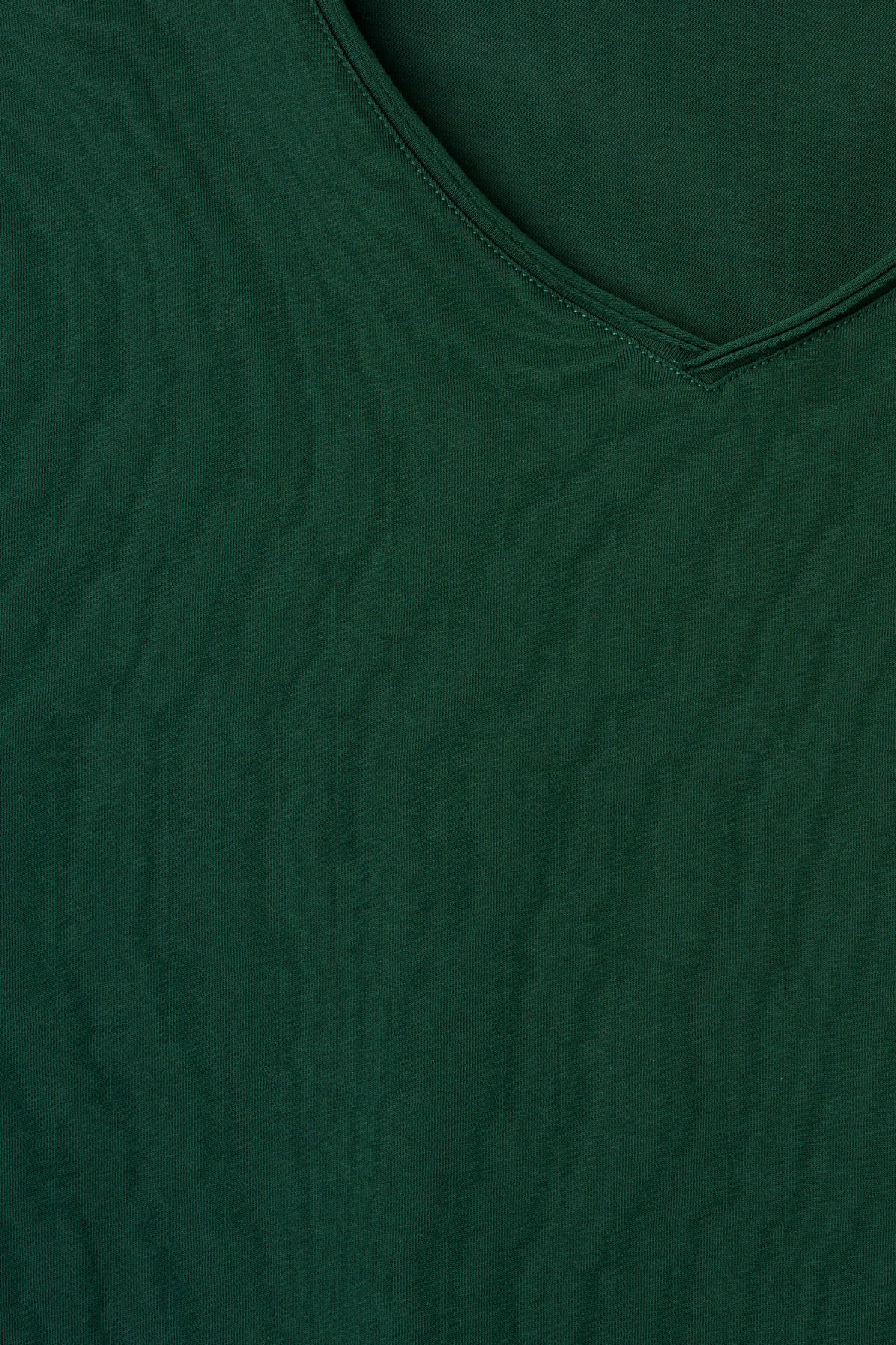 Detailed image of Weekday dark v-neck t-shirt in green