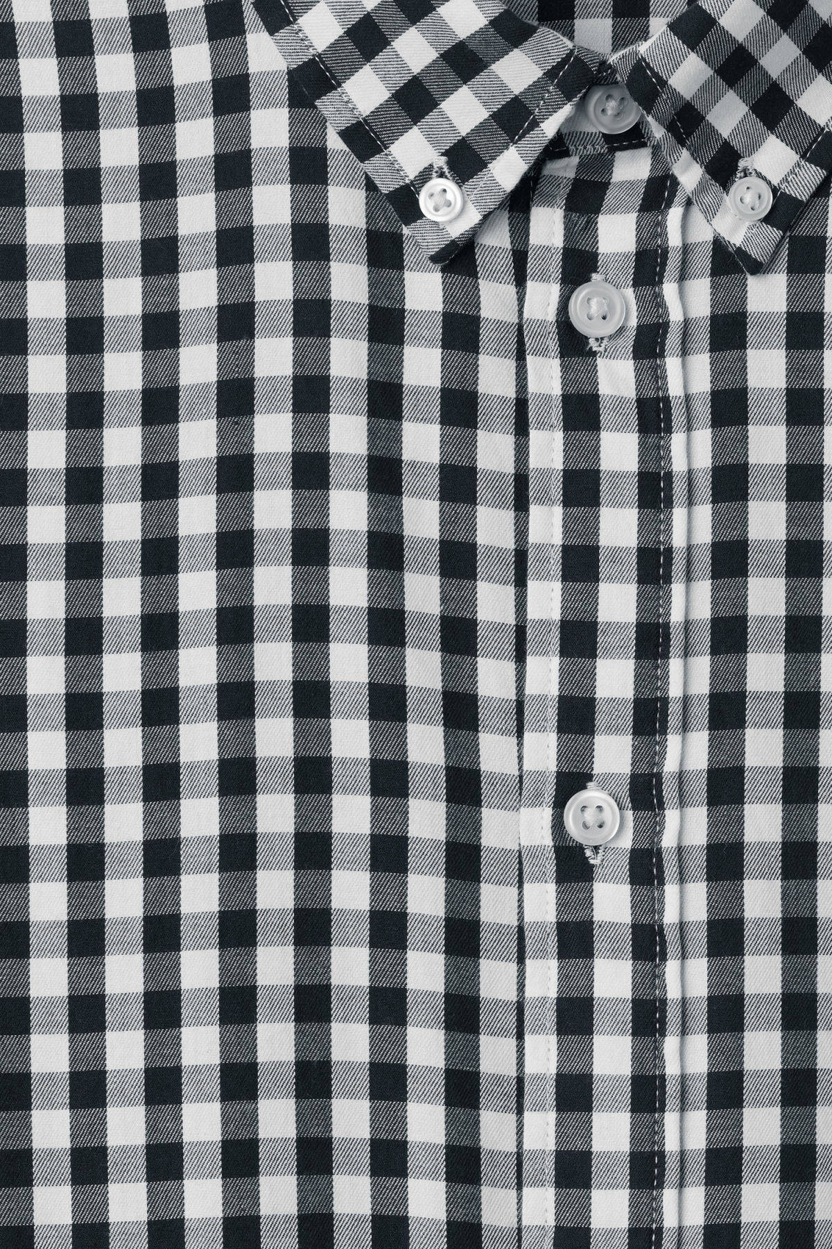Detailed image of Weekday seattle ginham shirt in blue