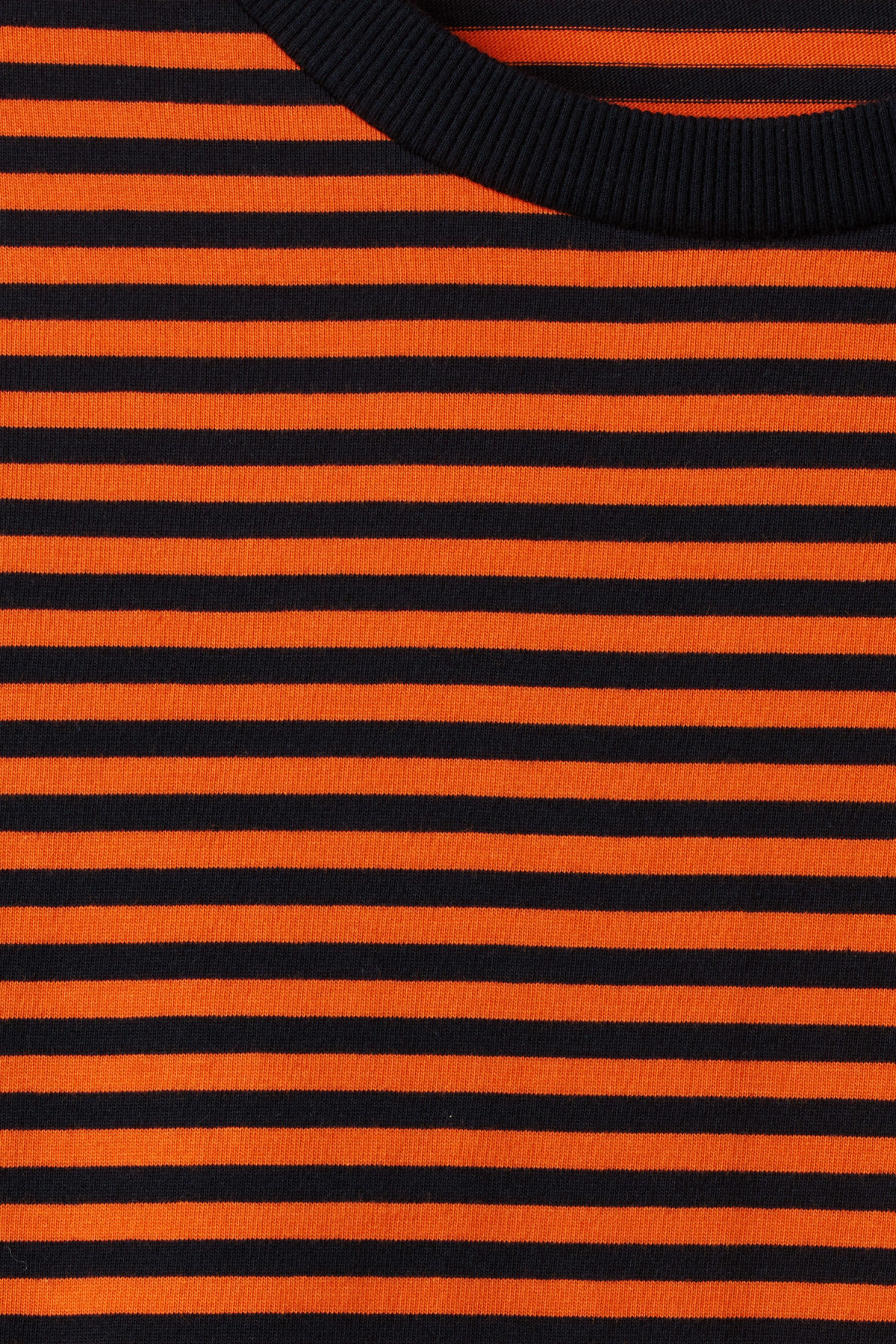 Detailed image of Weekday leonardo stripe long sleeve in orange