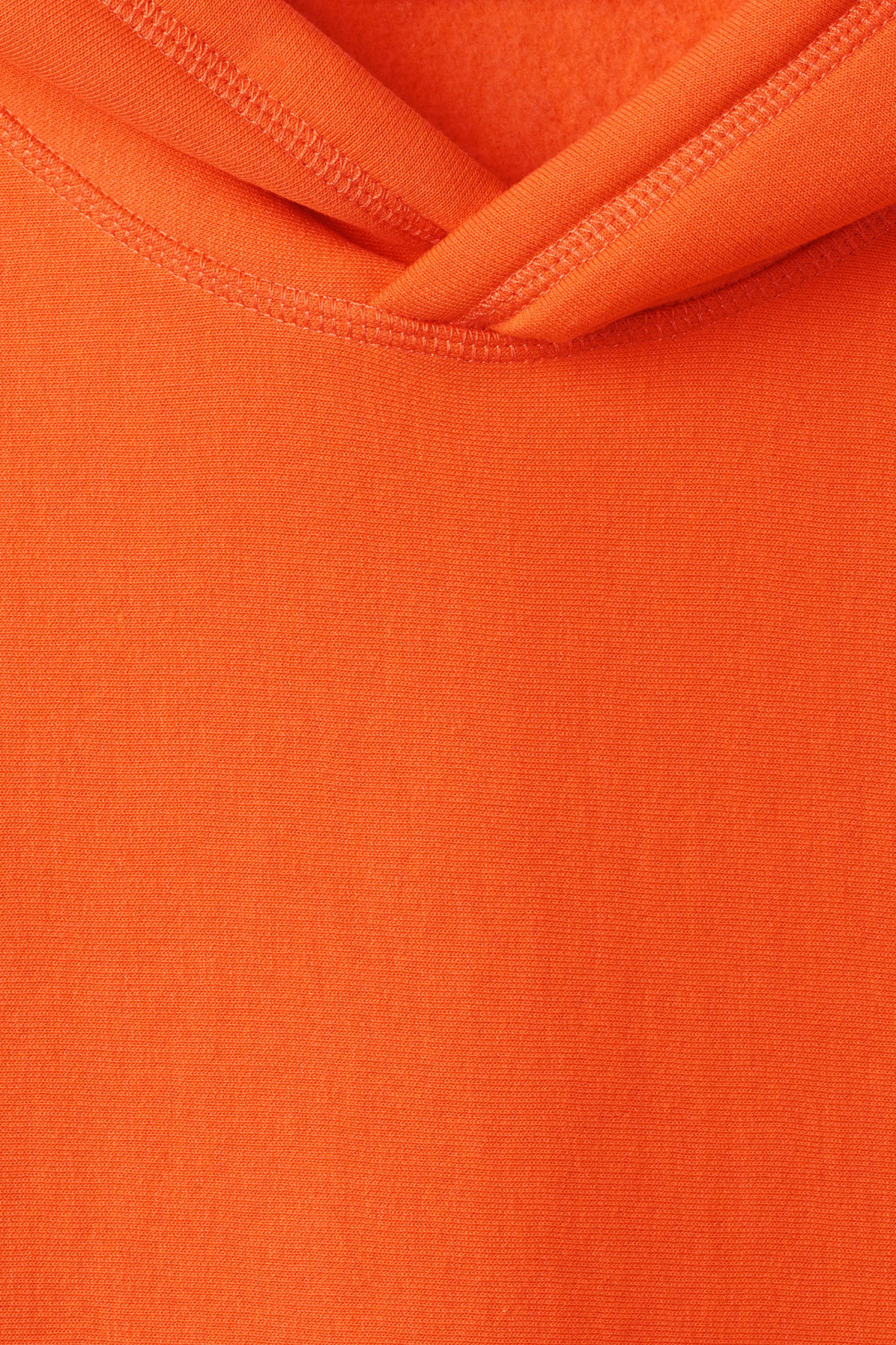 Detailed image of Weekday sol hoodie in orange