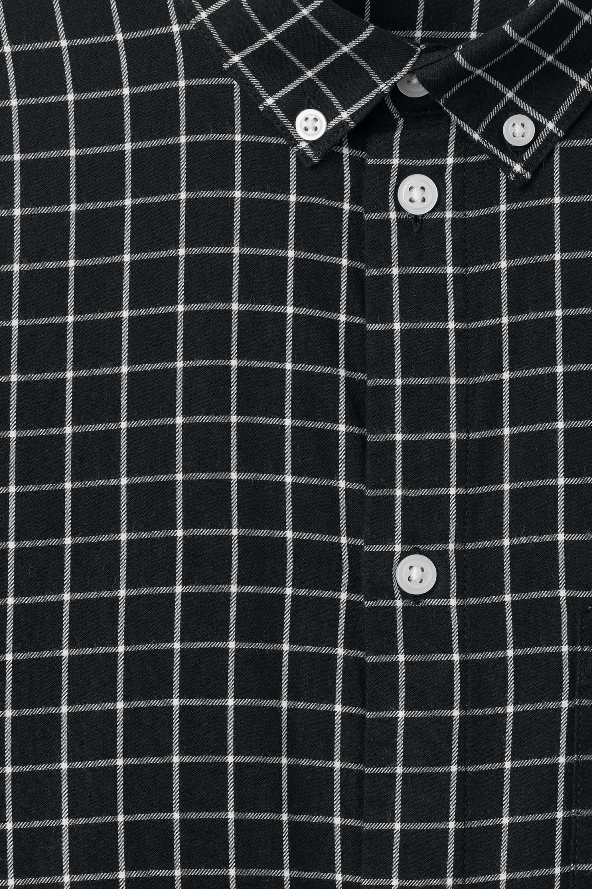 Detailed image of Weekday ray windowpane shirt in black