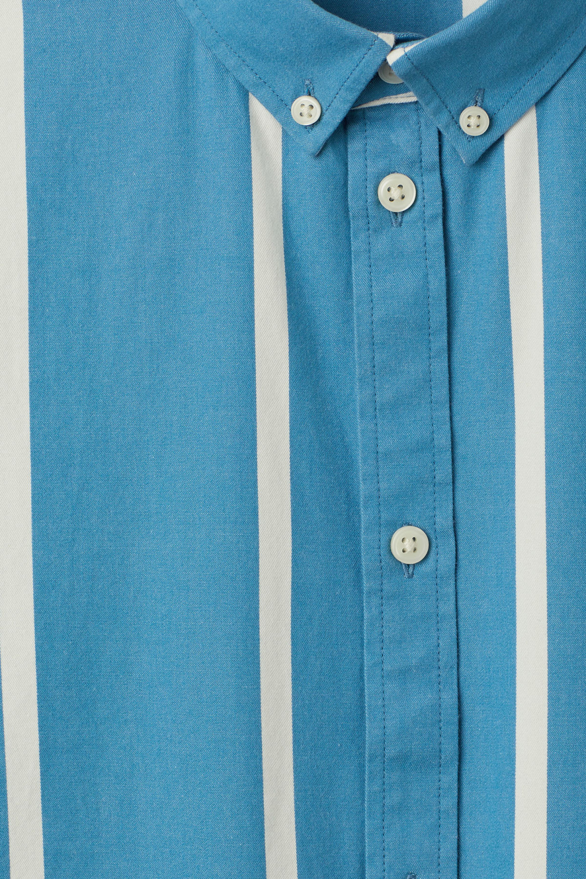 Detailed image of Weekday balance striped shirt in blue