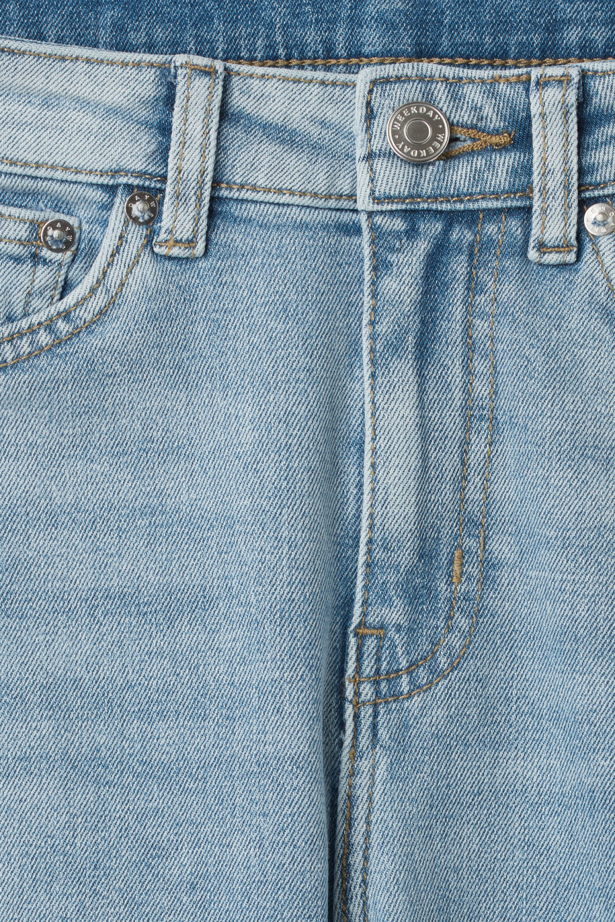 Detailed image of Weekday thursday reused blue jeans in blue