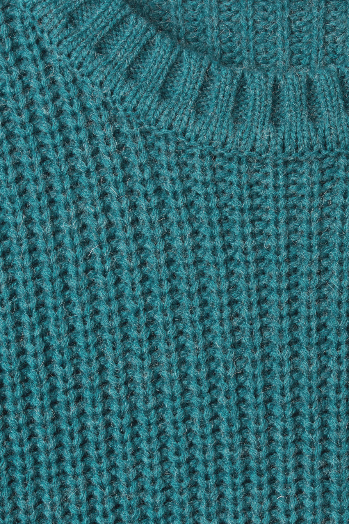 Detailed image of Weekday dieago sweater in turquoise