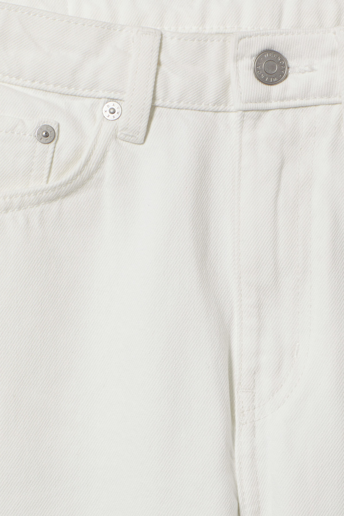 Detailed image of Weekday voyage loved white jeans in white