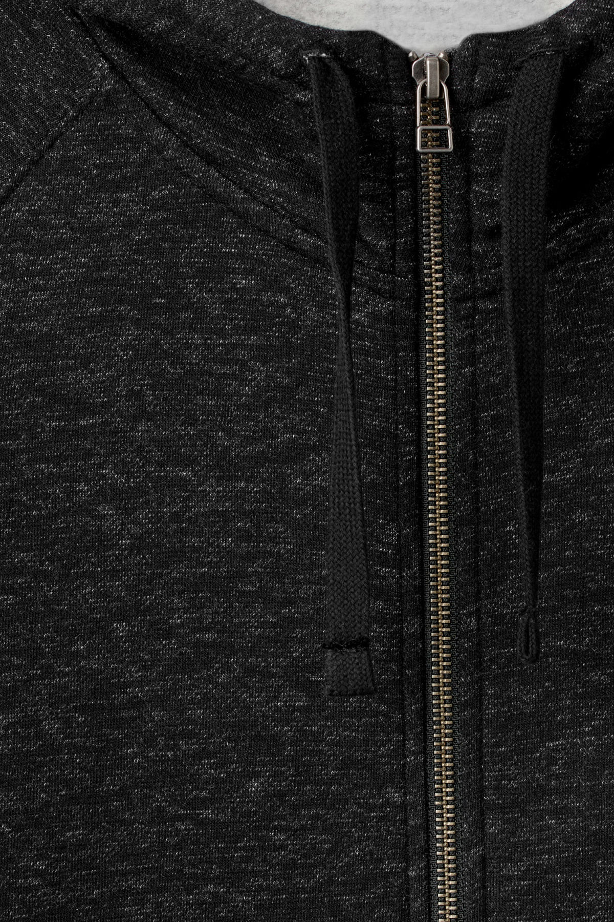 Detailed image of Weekday stark hoodie in black