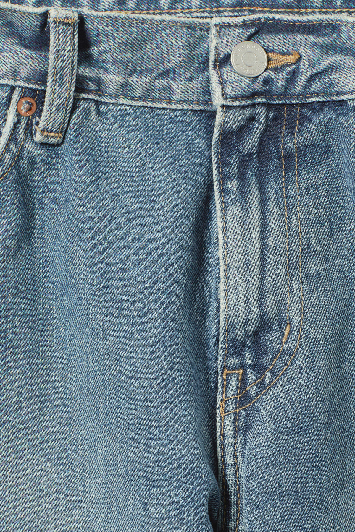 Detailed image of Weekday friday mint blue jeans in blue
