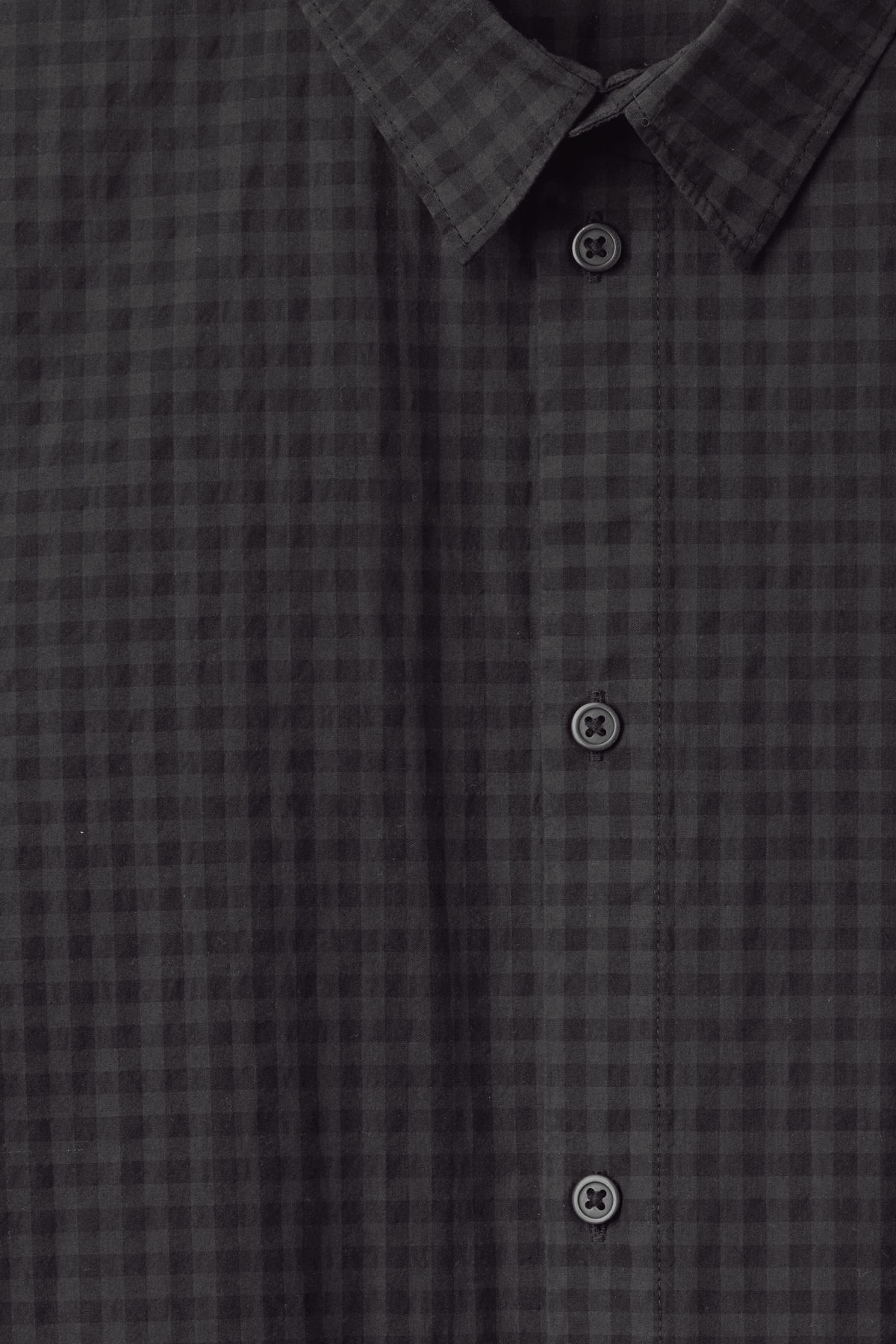 Detailed image of Weekday florida check shirt in black