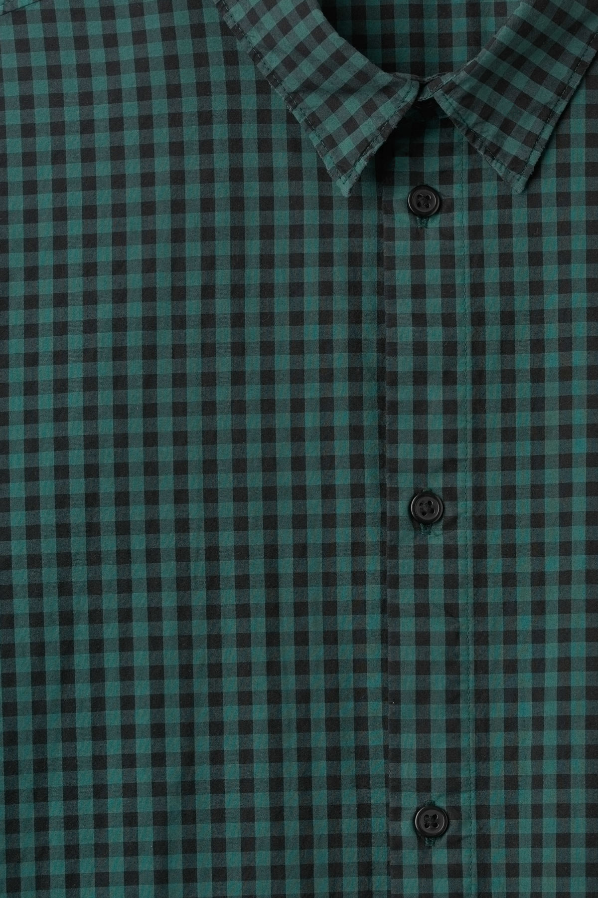 Detailed image of Weekday florida check shirt in turquoise