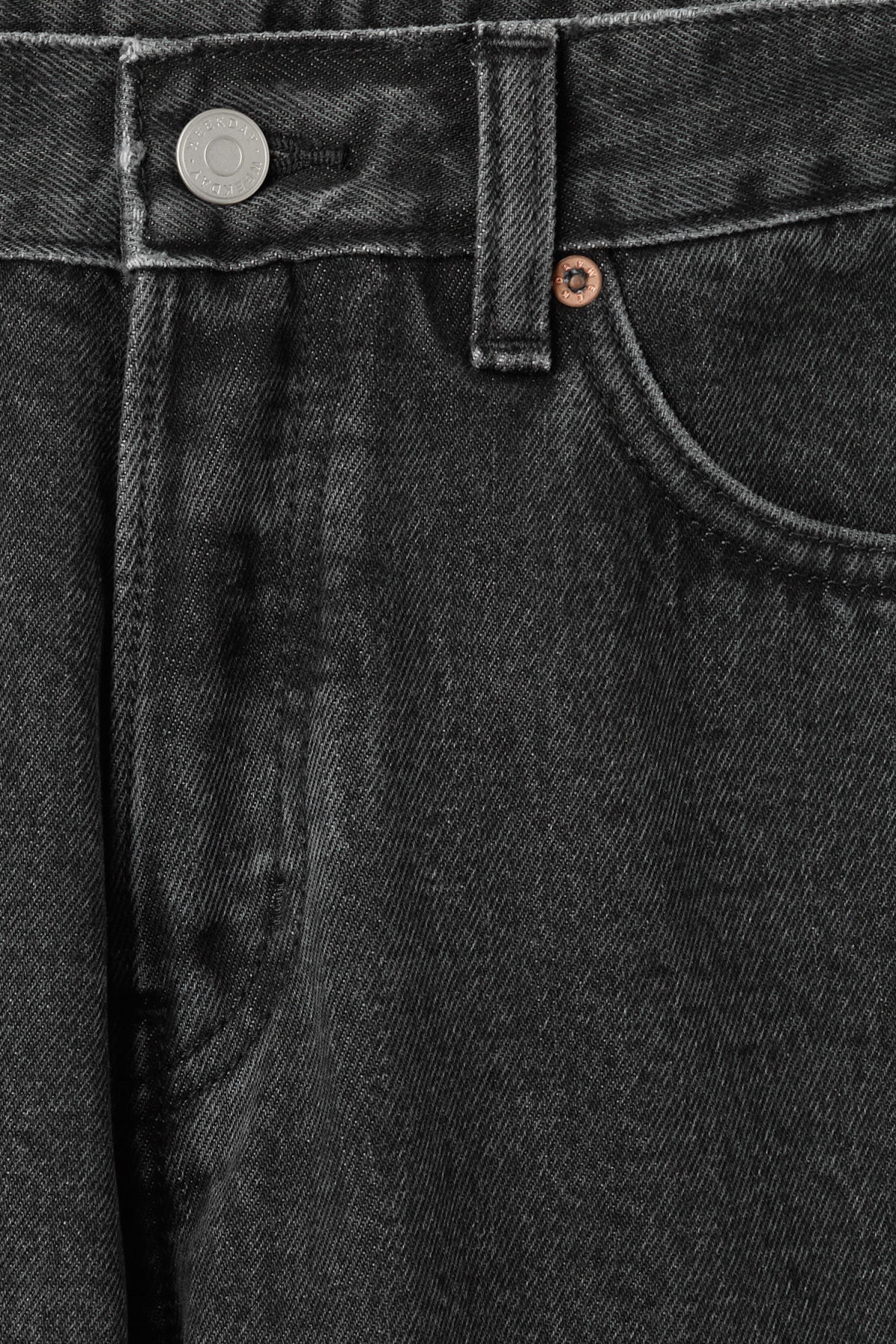 Detailed image of Weekday vacant cropped stone jeans in grey
