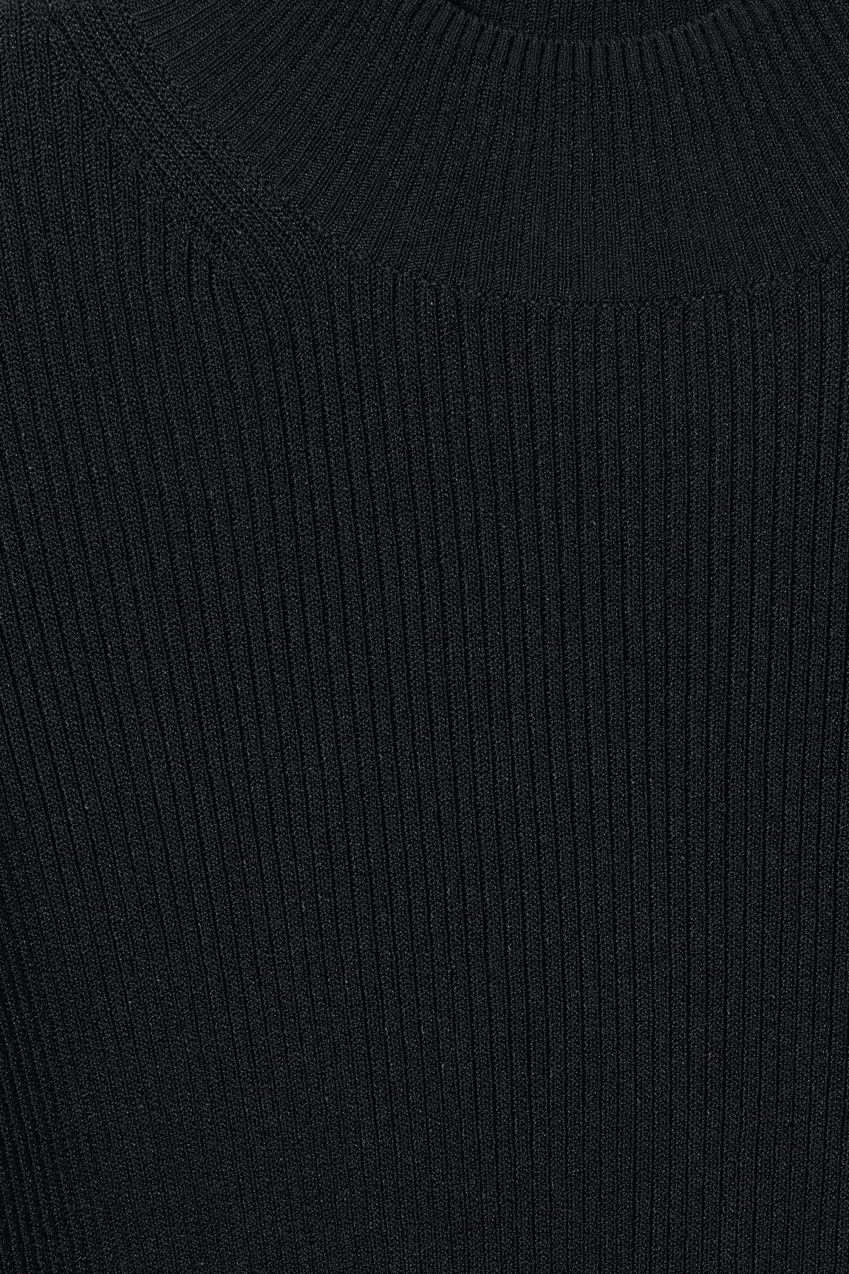 Detailed image of Weekday haze knit top in black