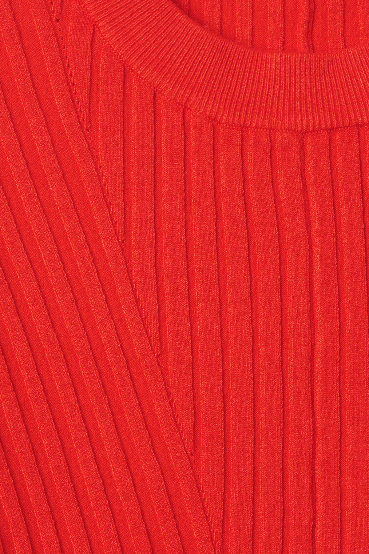 Detailed image of Weekday ron directional sweater in orange