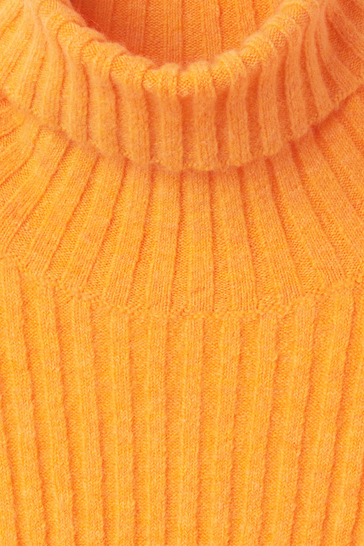 Detailed image of Weekday etch sweater in yellow