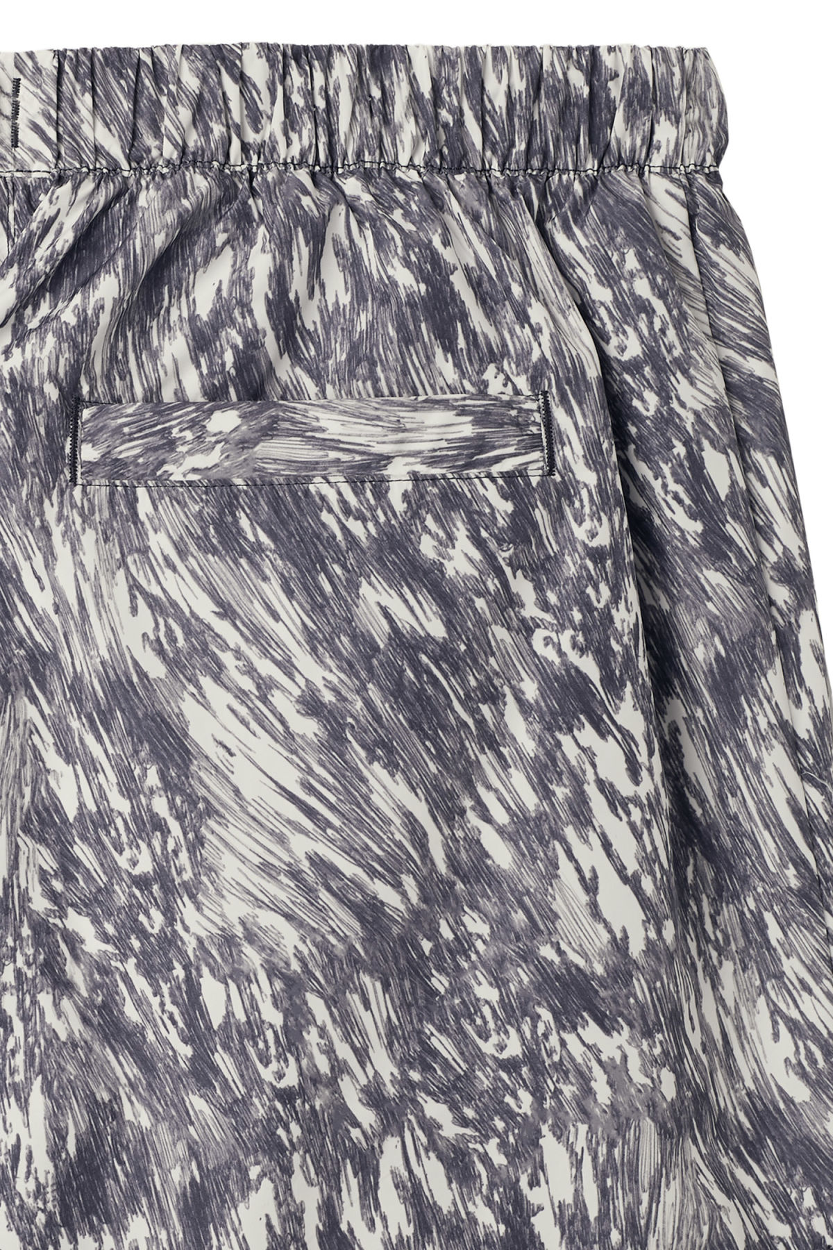 Detailed image of Weekday apex print swim shorts in blue