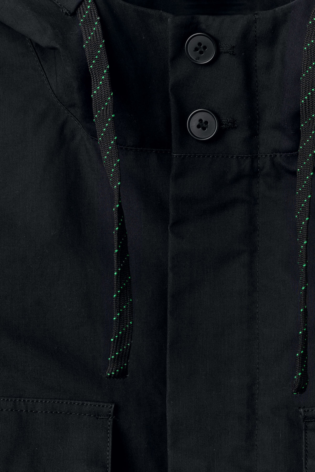 Detailed image of Weekday ashcan parka in black