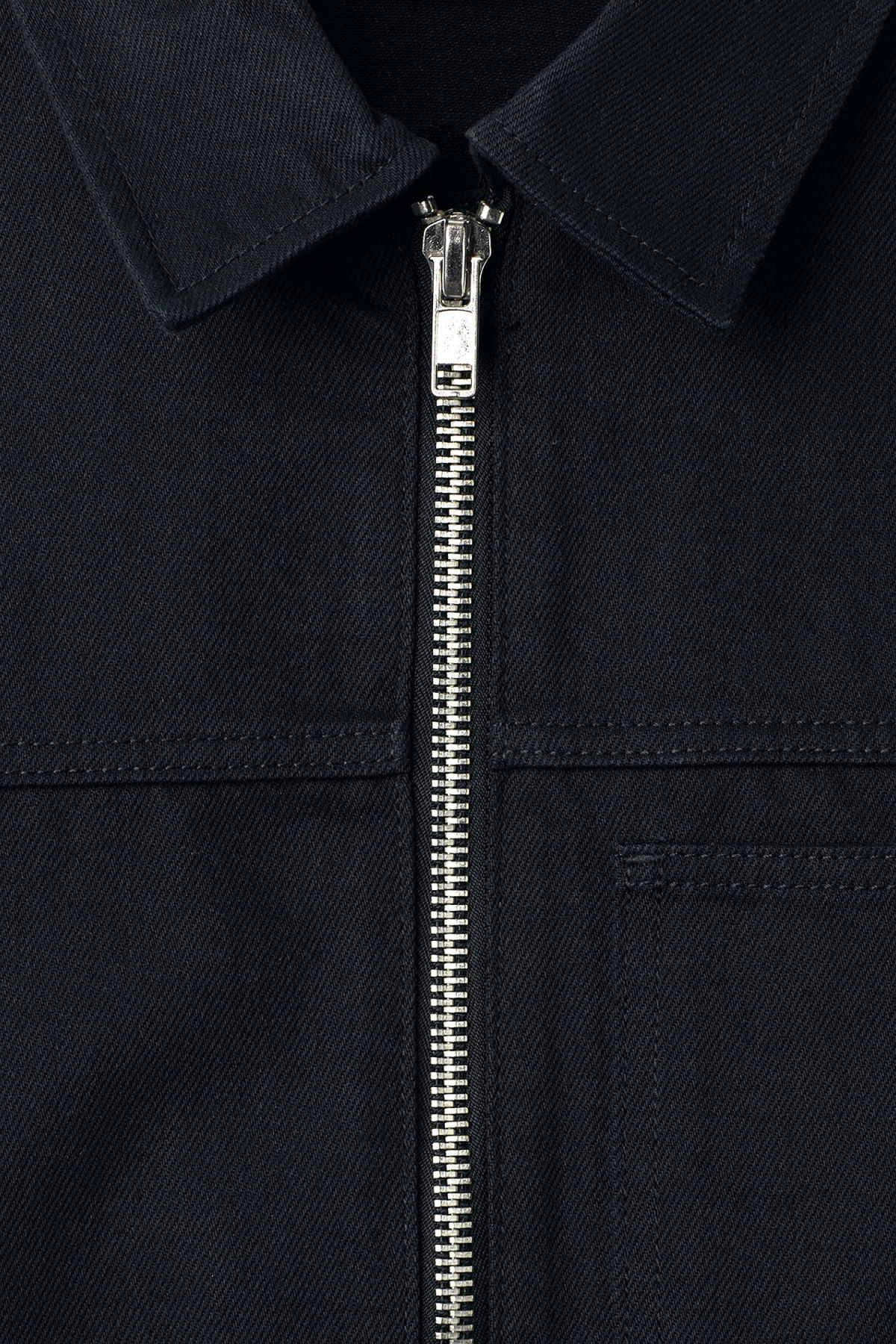 Detailed image of Weekday core zip jacket in blue