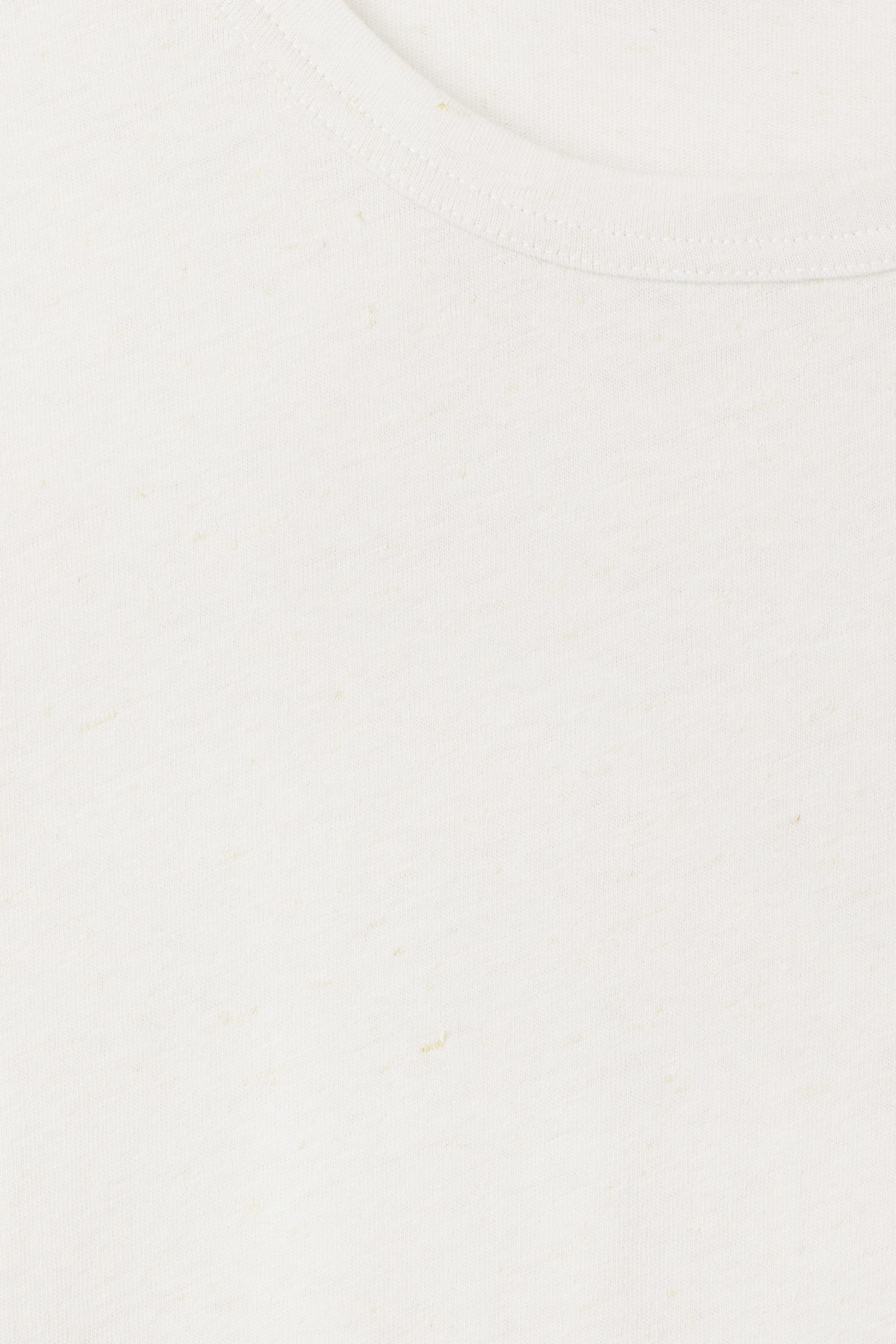 Detailed image of Weekday linen t-shirt in white