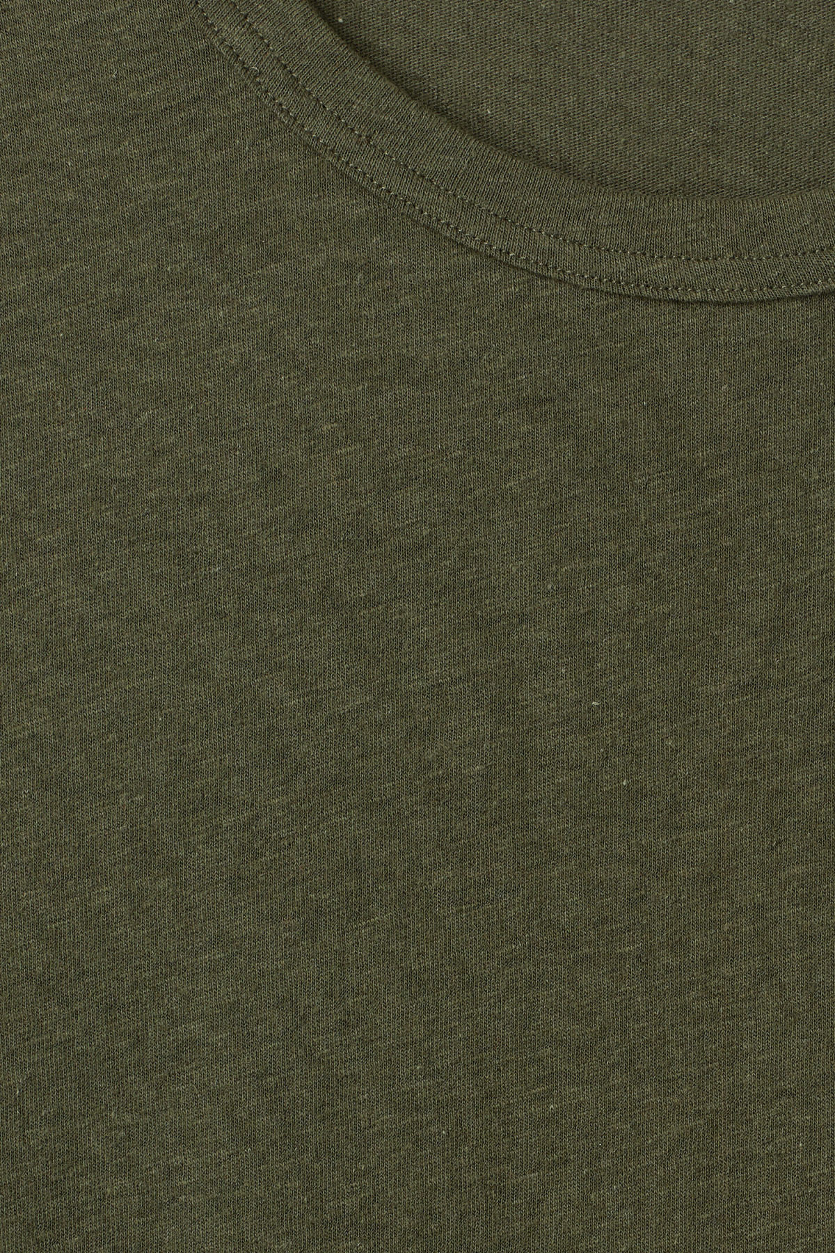 Detailed image of Weekday linen t-shirt in green