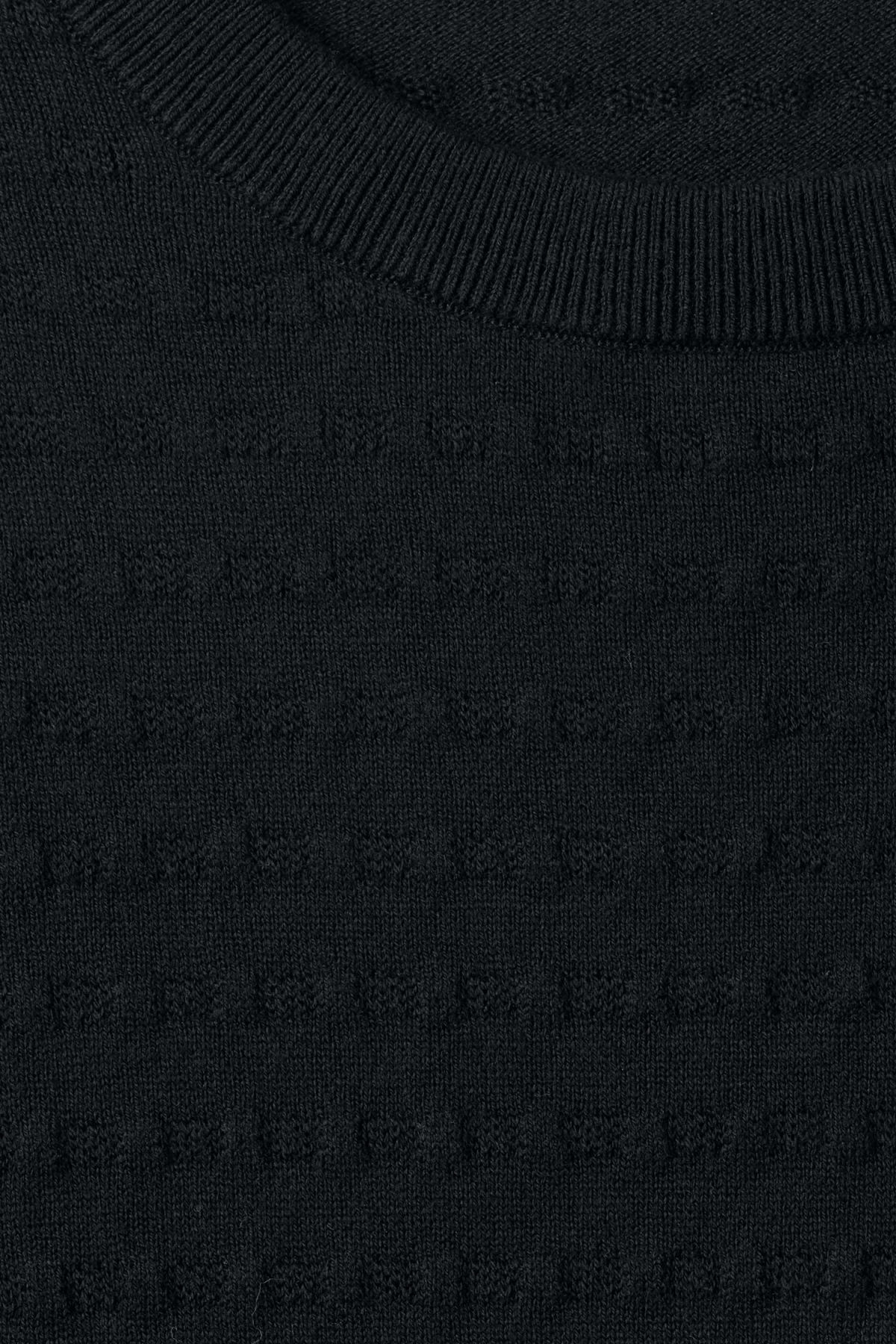 Detailed image of Weekday prism sweater  in black