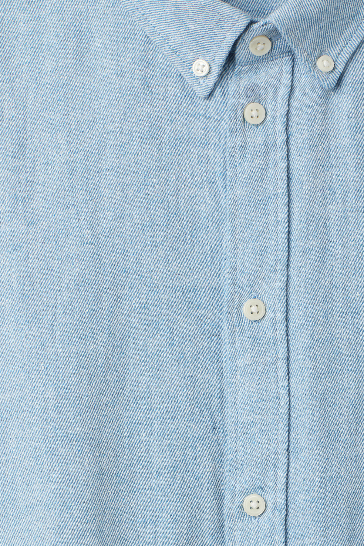 Detailed image of Weekday seattle twotwill shirt in blue