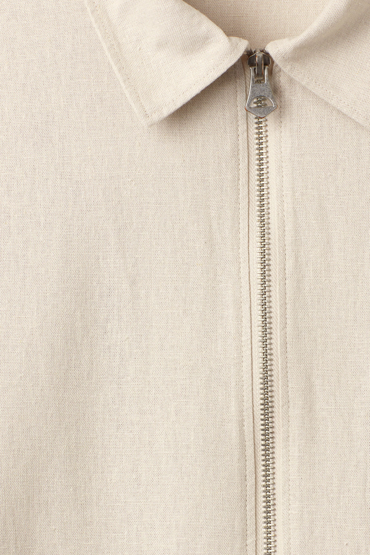 Detailed image of Weekday temp linen shirt in brown