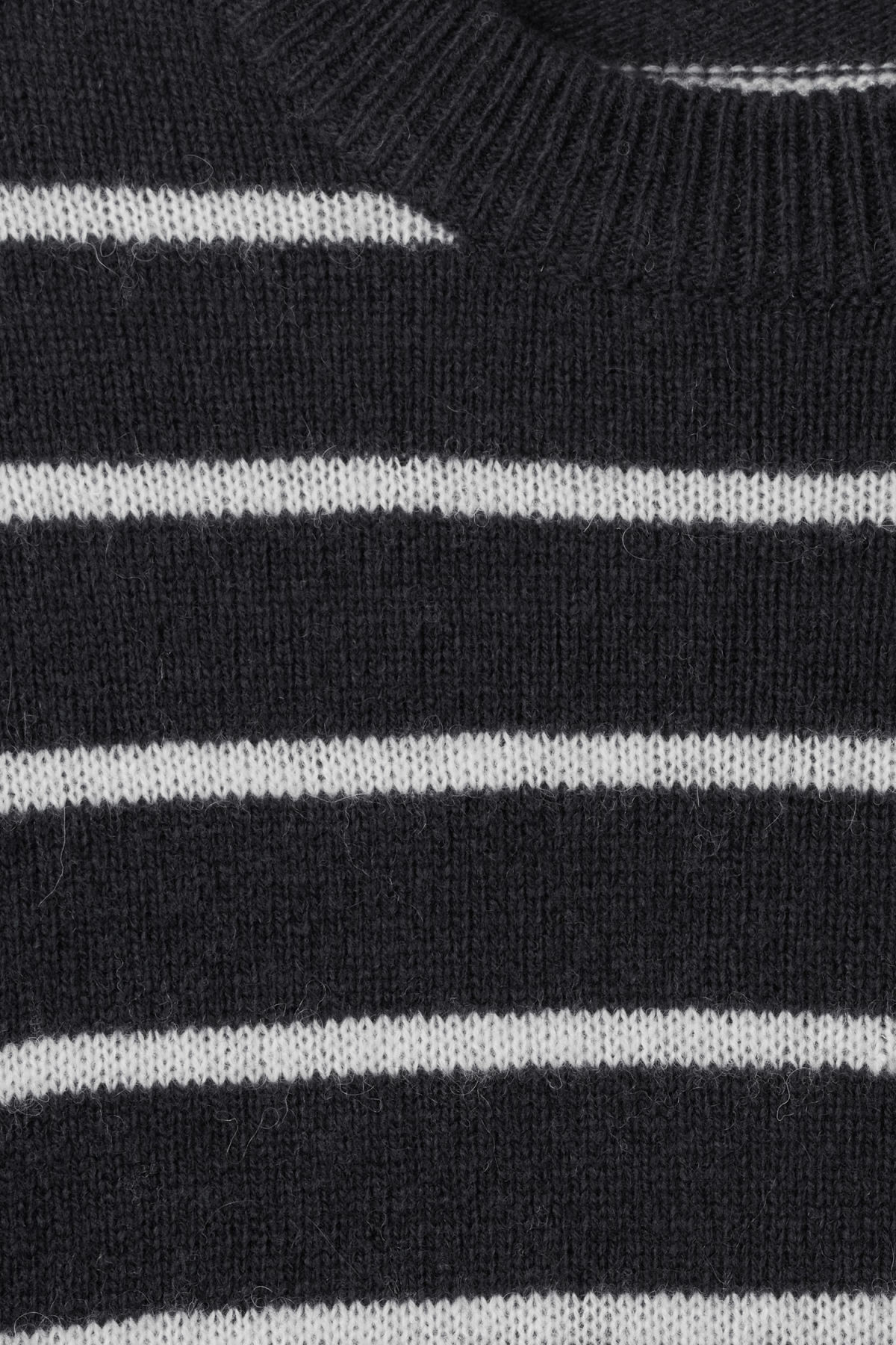 Detailed image of Weekday vinci stripe sweater  in blue