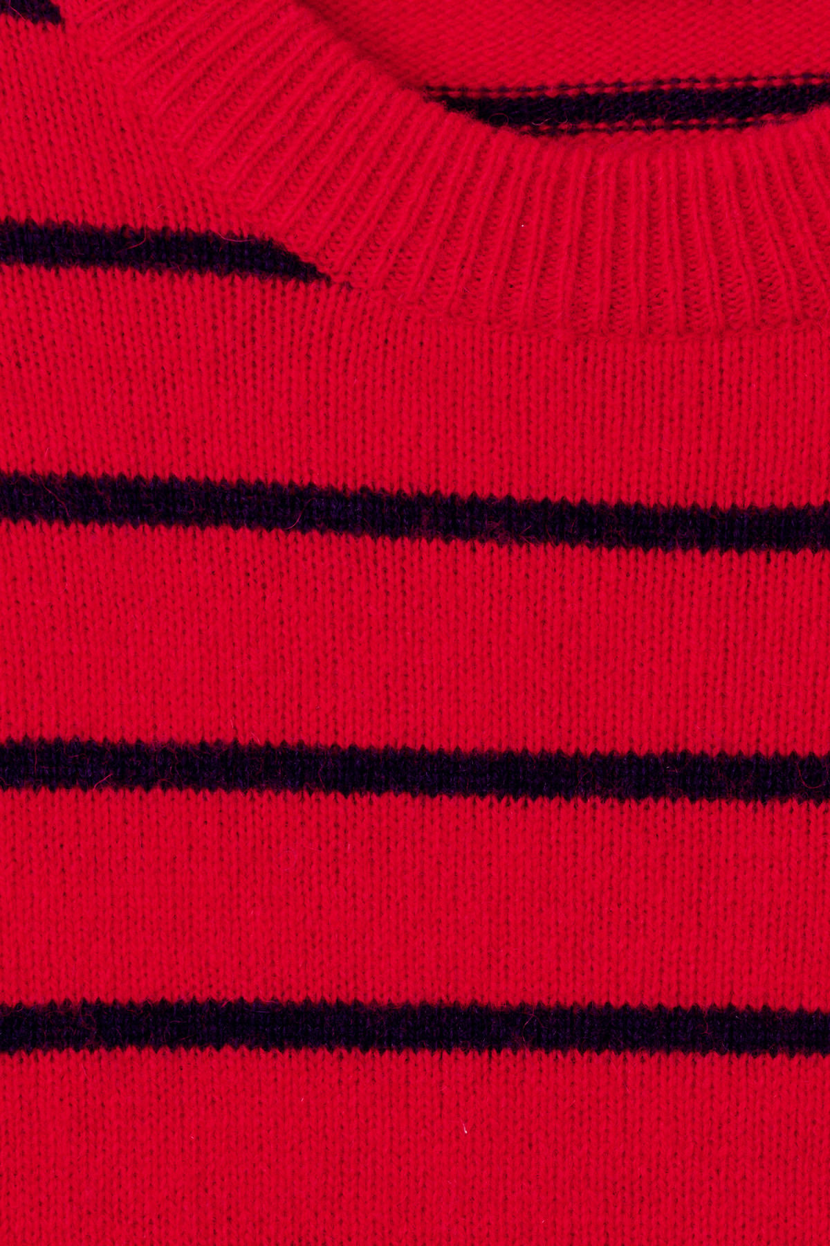 Detailed image of Weekday vinci stripe sweater  in red