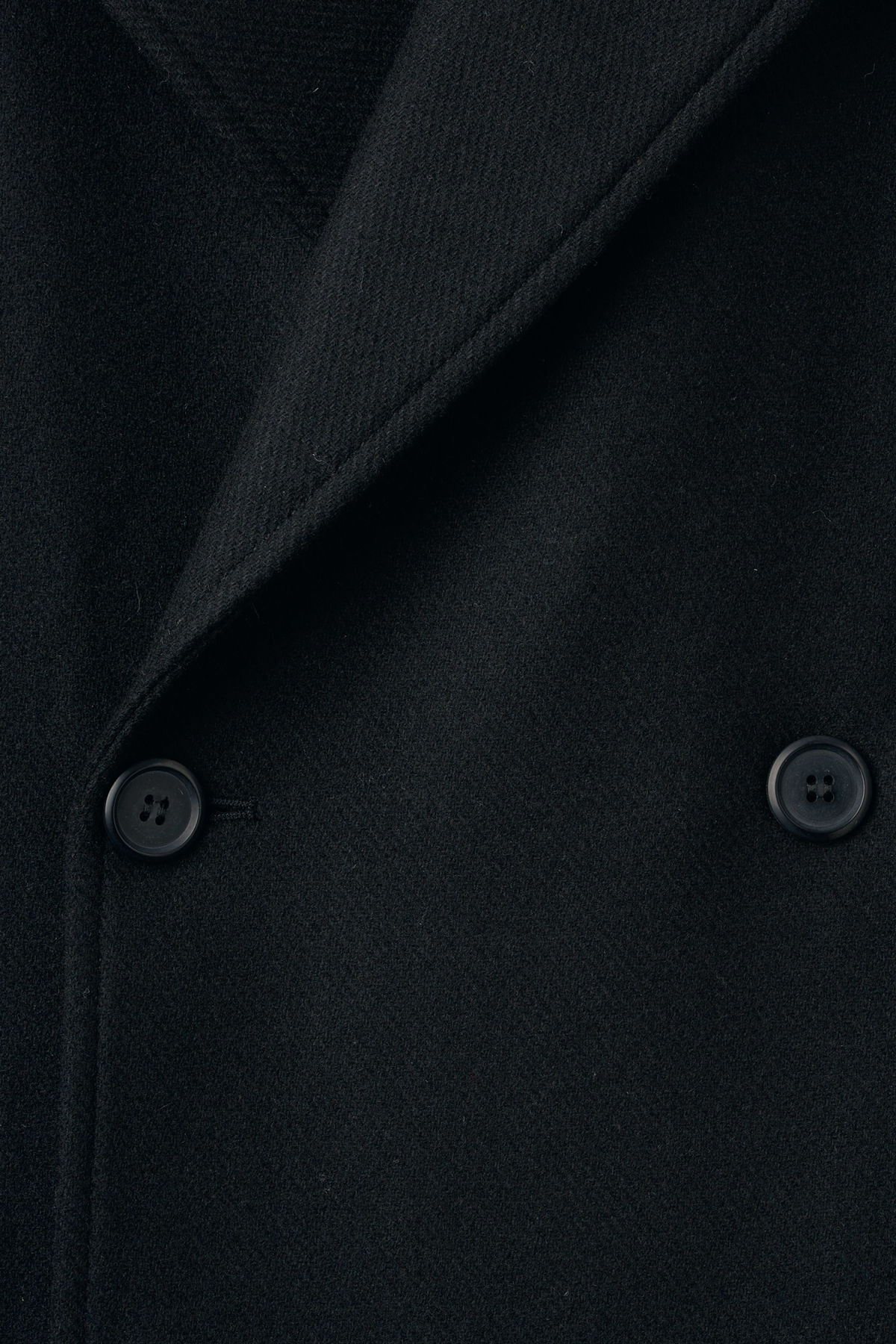Detailed image of Weekday clef peacoat in black