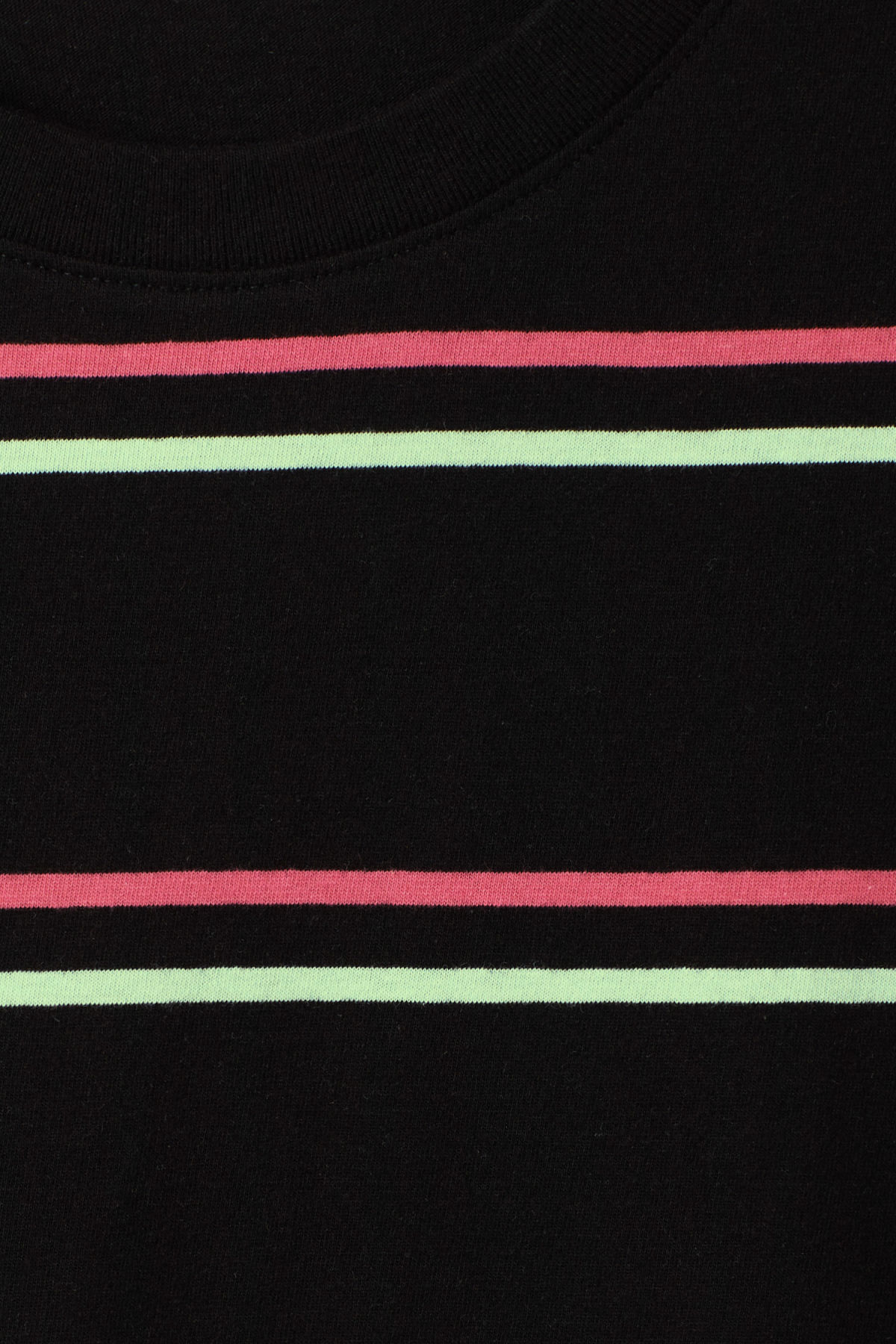Detailed image of Weekday frank striped t-shirt  in black