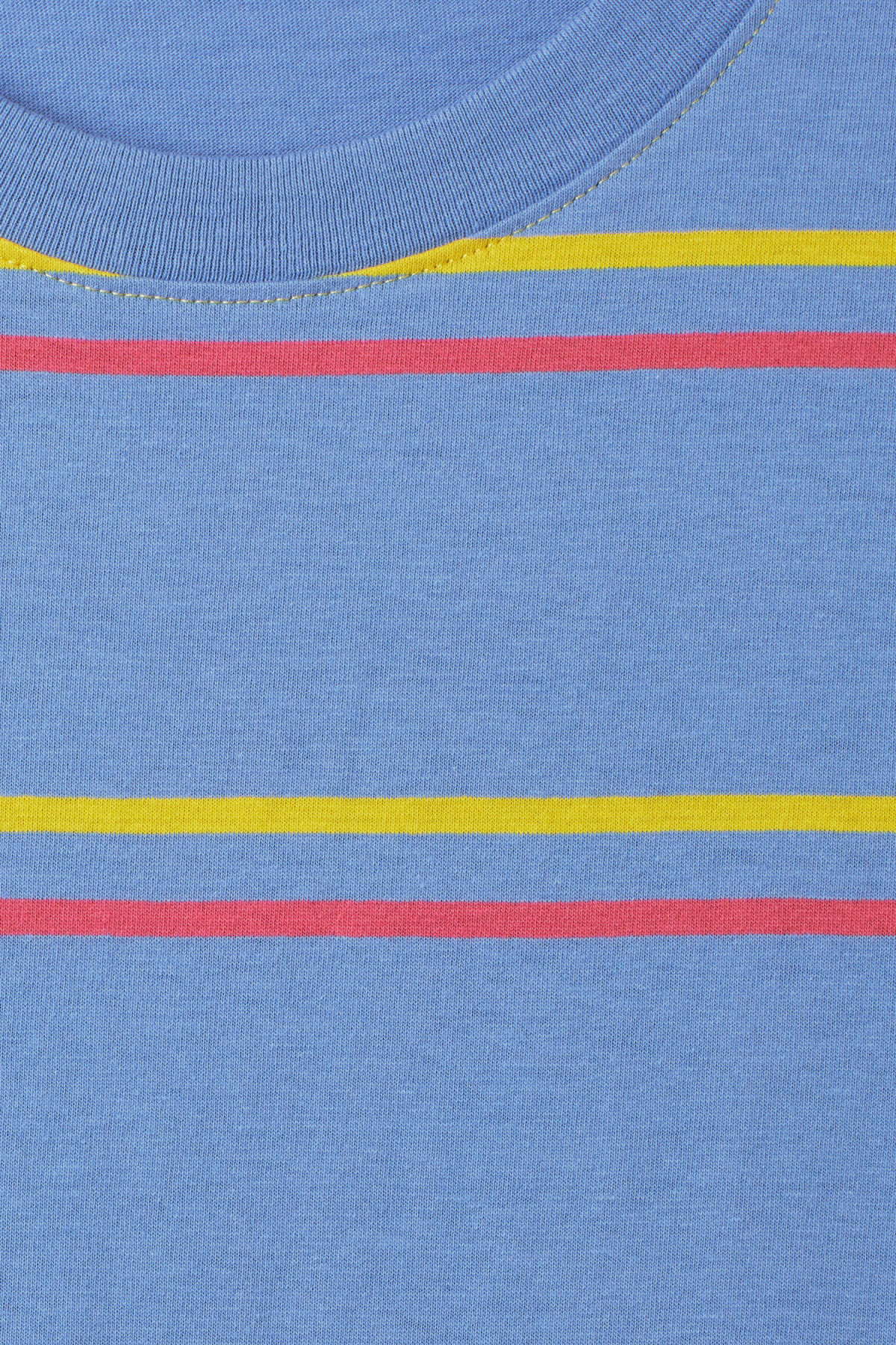 Detailed image of Weekday frank striped t-shirt  in blue
