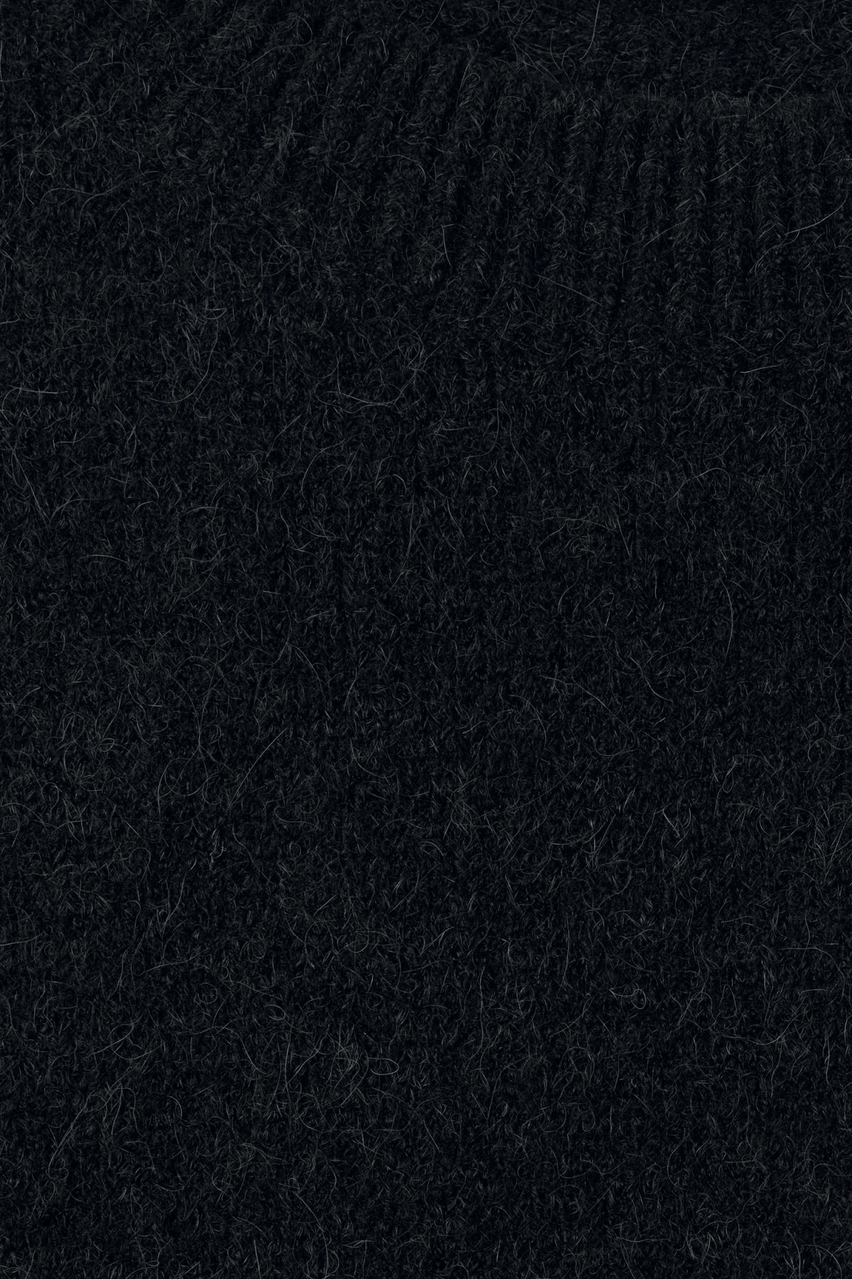 Detailed image of Weekday cutter sweater in black