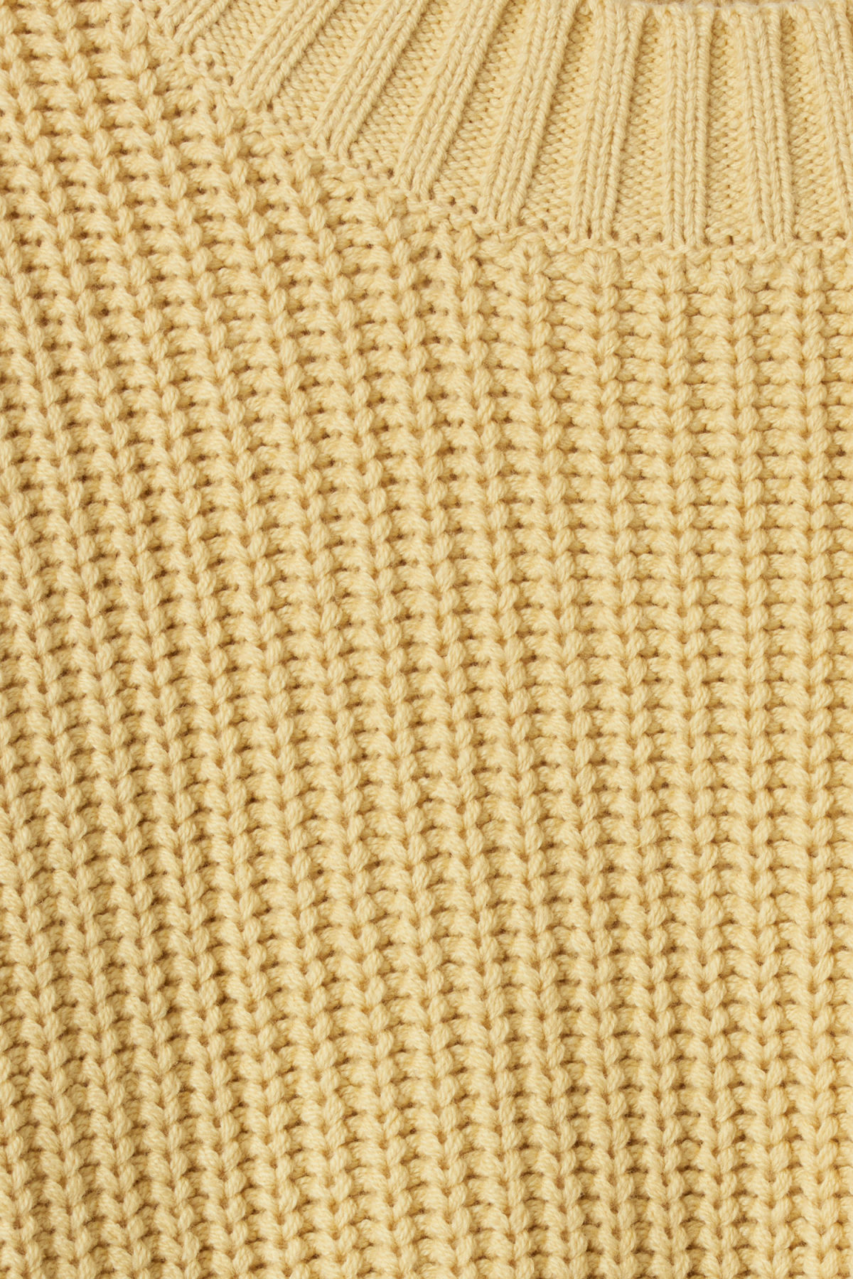 Detailed image of Weekday mahal sweater in yellow
