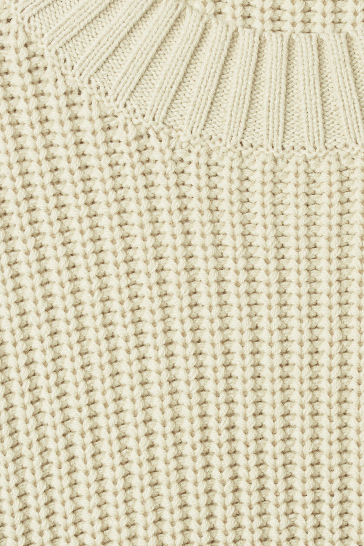 Detailed image of Weekday mahal sweater in beige