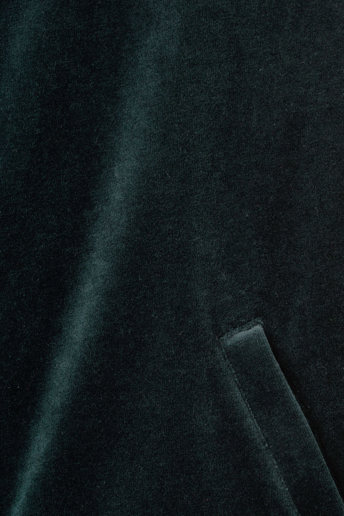Detailed image of Weekday track velour sweatshirt  in blue