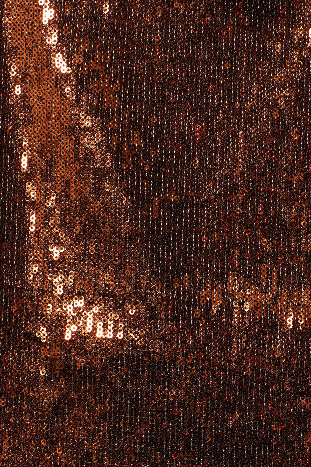 Detailed image of Weekday vanessa sequin skirt in orange